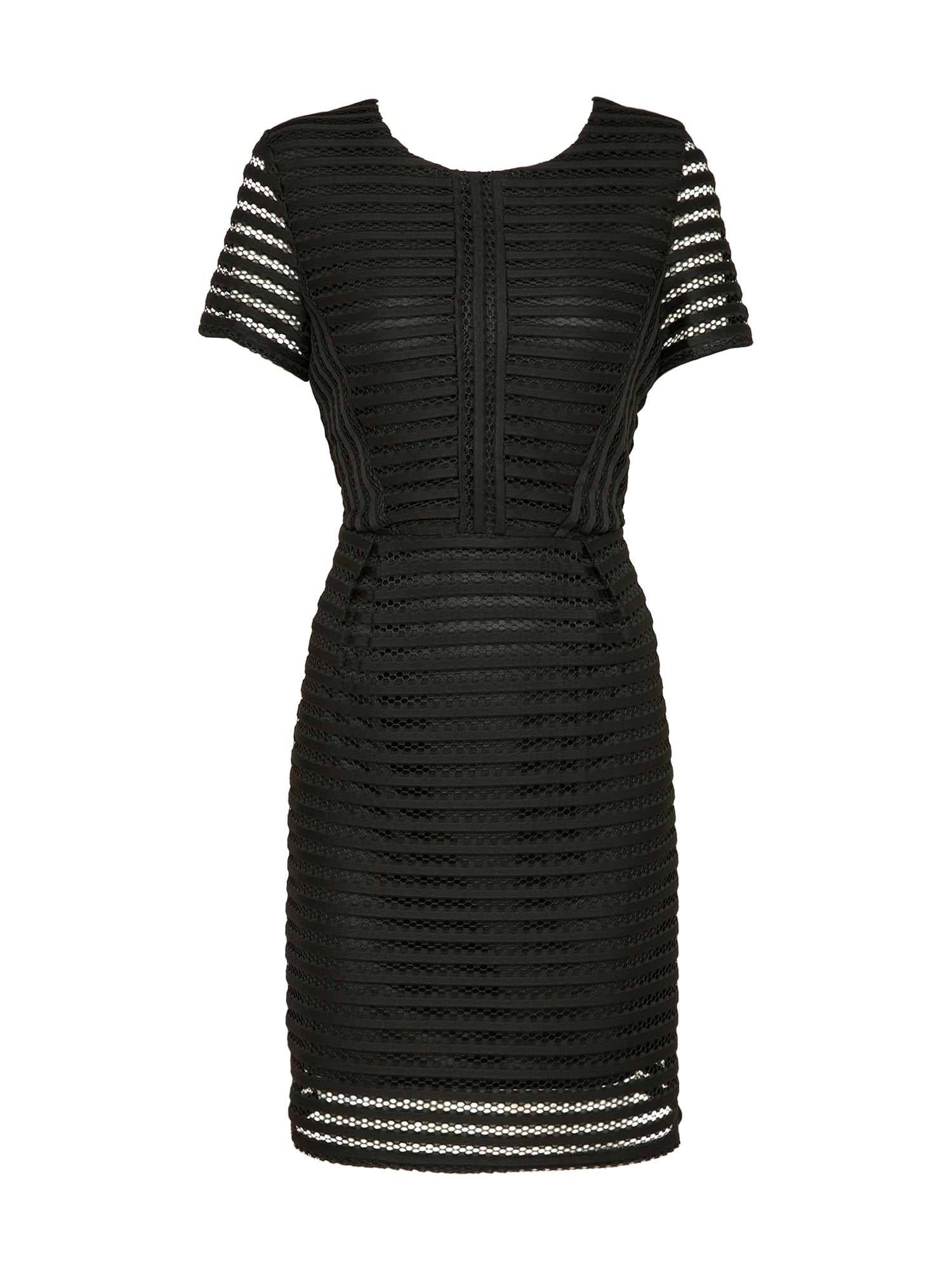 Šaty Lace Pannelled schwarz Boohoo