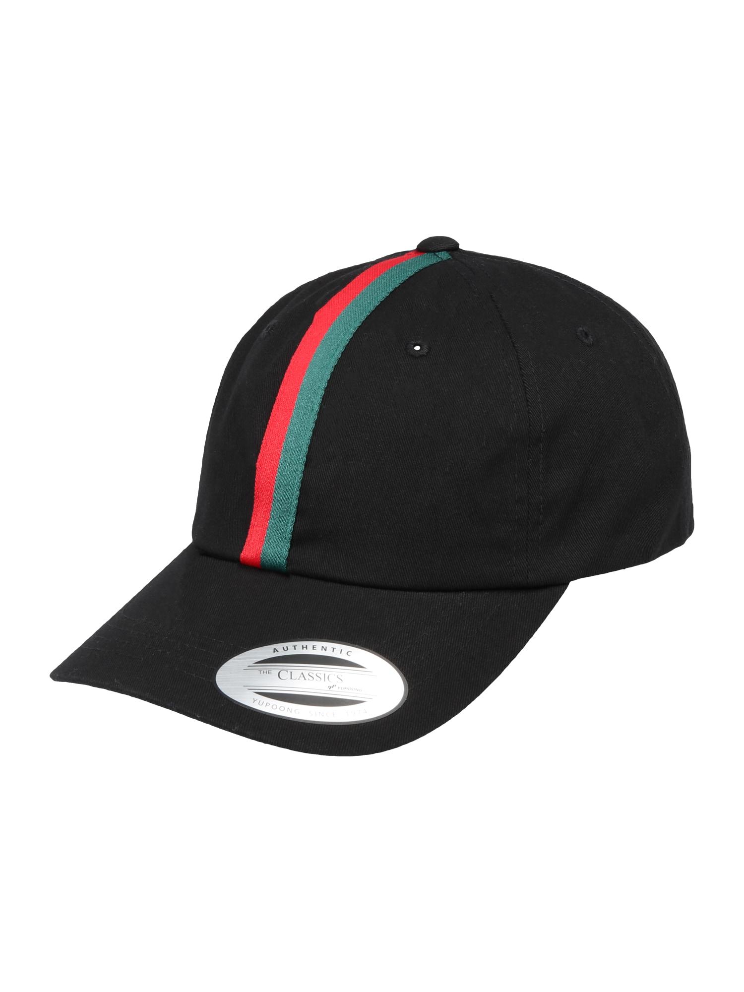 Kšiltovka Stripe Dad Hat zelená červená černá Flexfit