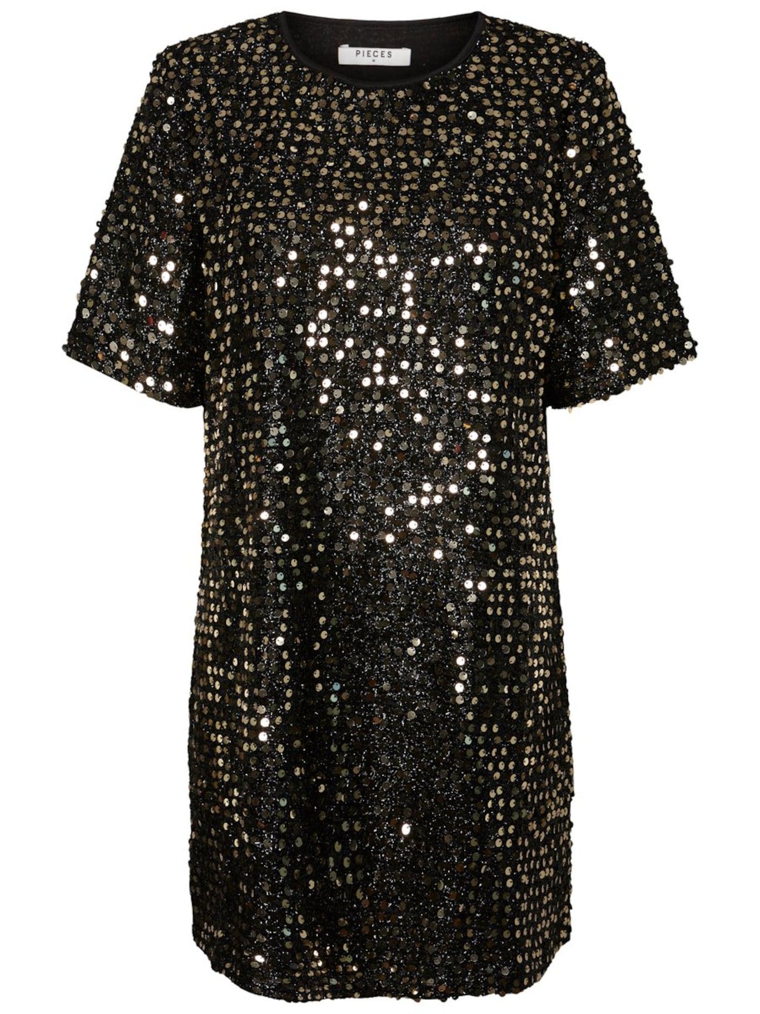 Gold Schwarzes Kleid
