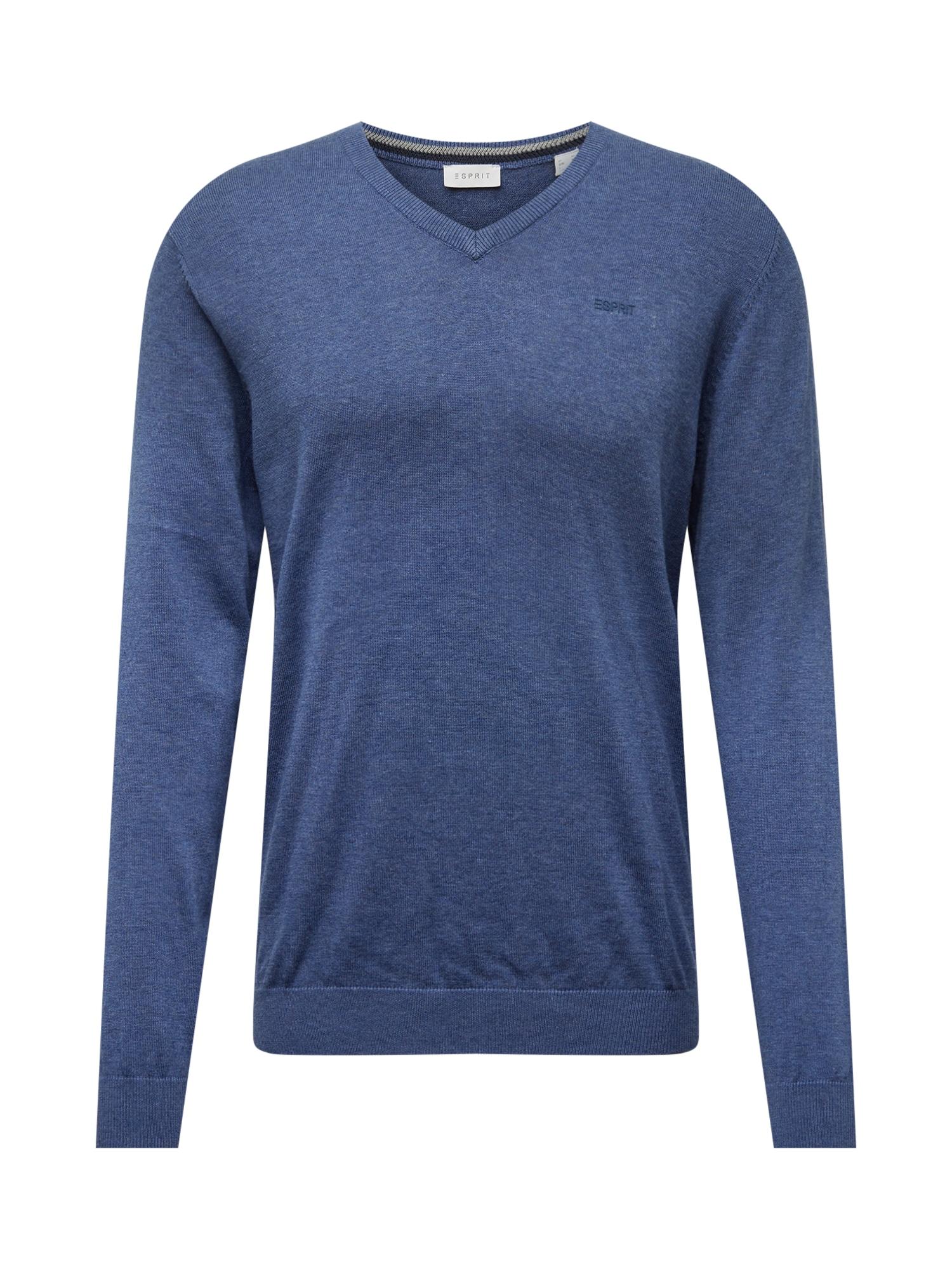 ESPRIT Megztinis mėlyna dūmų spalva