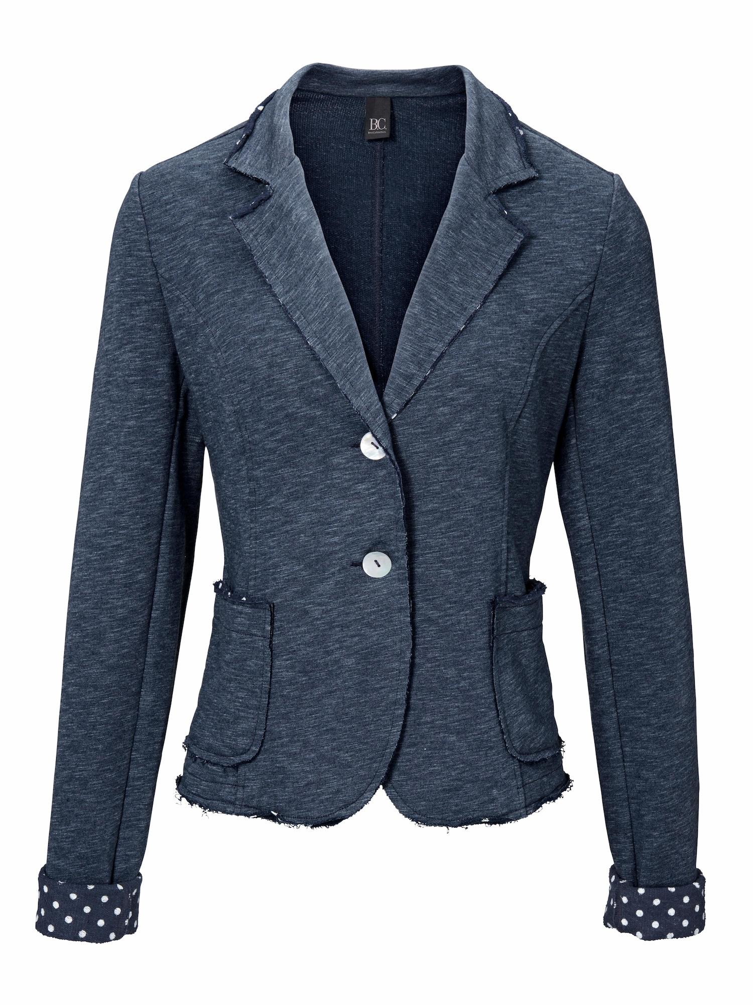 Sweatblazer mit offenen Kanten | Bekleidung > Blazer > Sweatblazer | heine