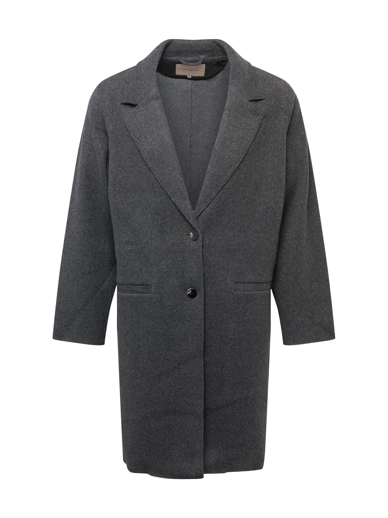 ONLY Carmakoma Demisezoninis paltas tamsiai pilka