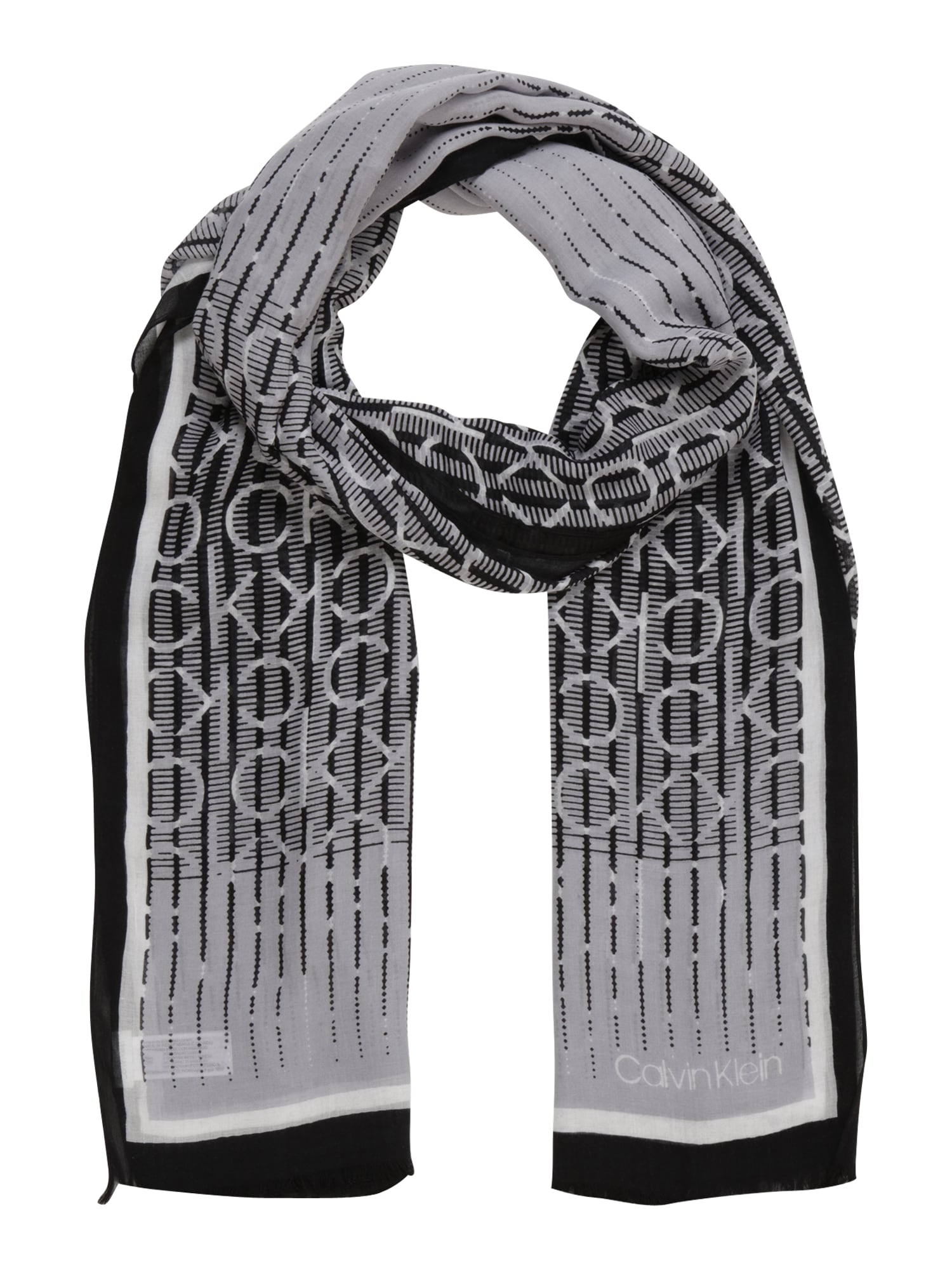 Calvin Klein Skara 'DIGITAL PRINT' kremo / juoda