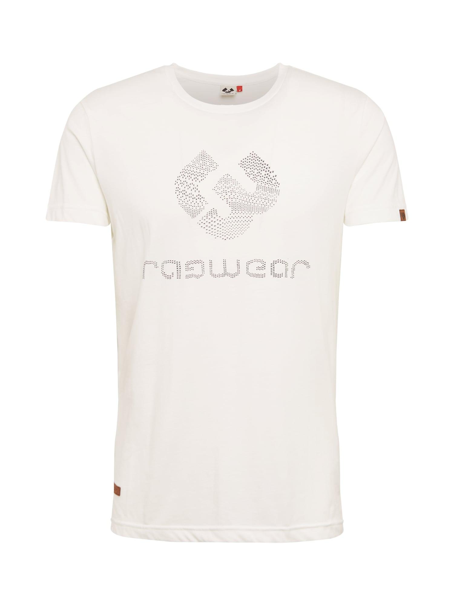 Ragwear Tricou 'CHARLES'  negru / alb