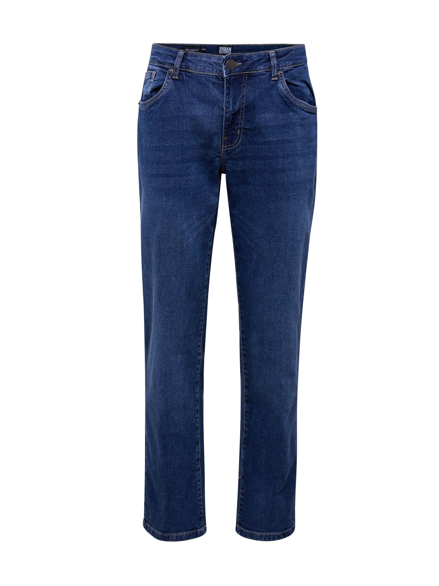 Urban Classics Jeans 'Relaxed Fit Jeans'  denim albastru