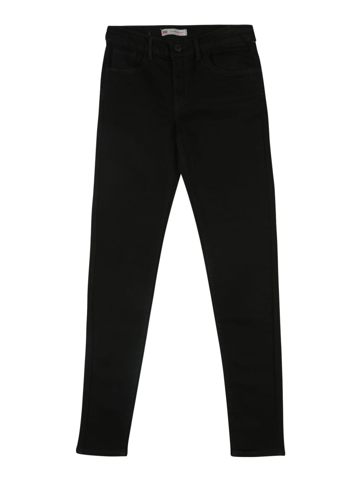 LEVI'S Džinsai '710 Super Skinny' juodo džinso spalva