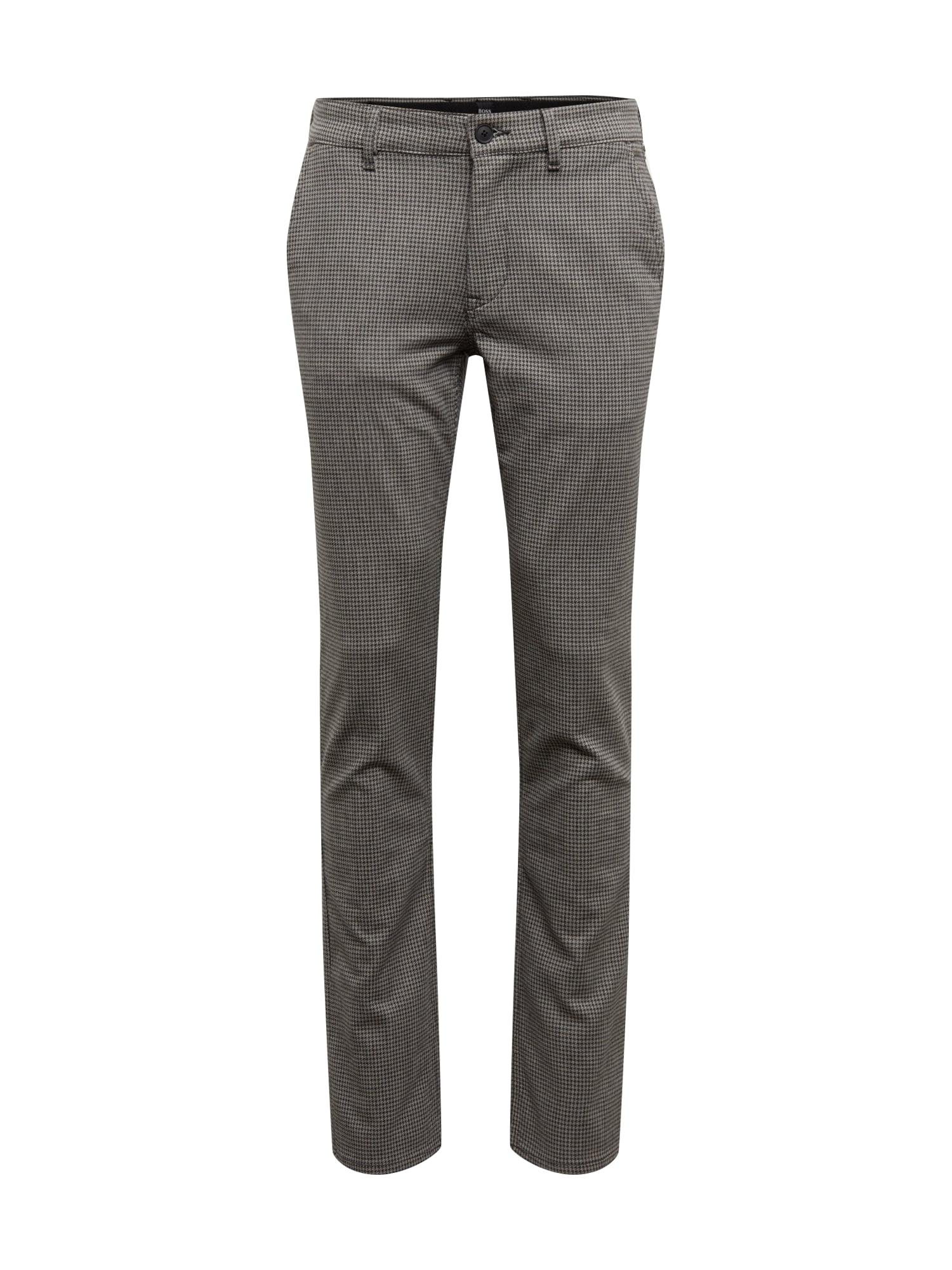 BOSS Kelnės 'Schino-Slim 10219626 01' pilka / juoda