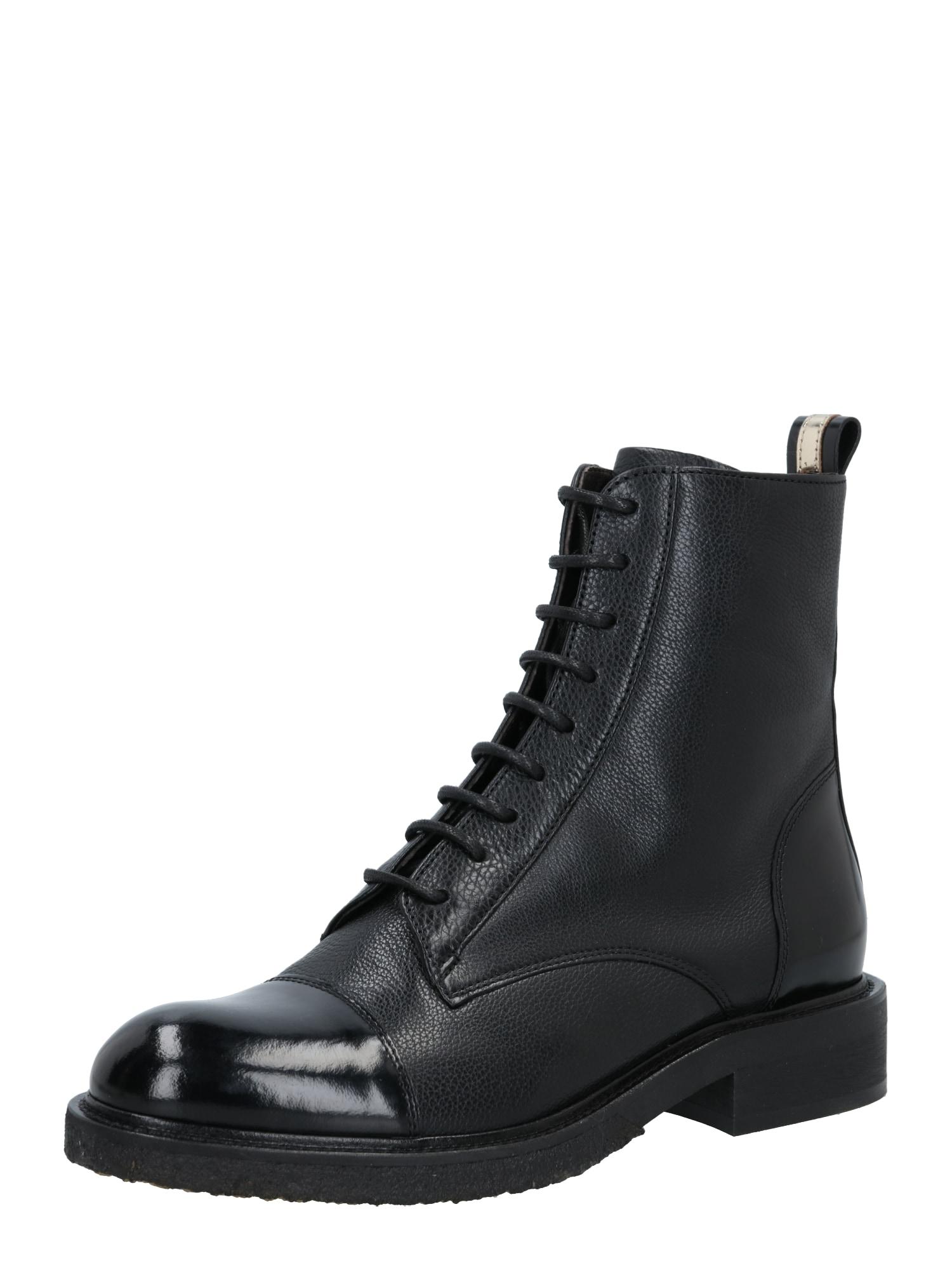 Billi Bi Suvarstomieji kulkšnis dengiantys batai juoda
