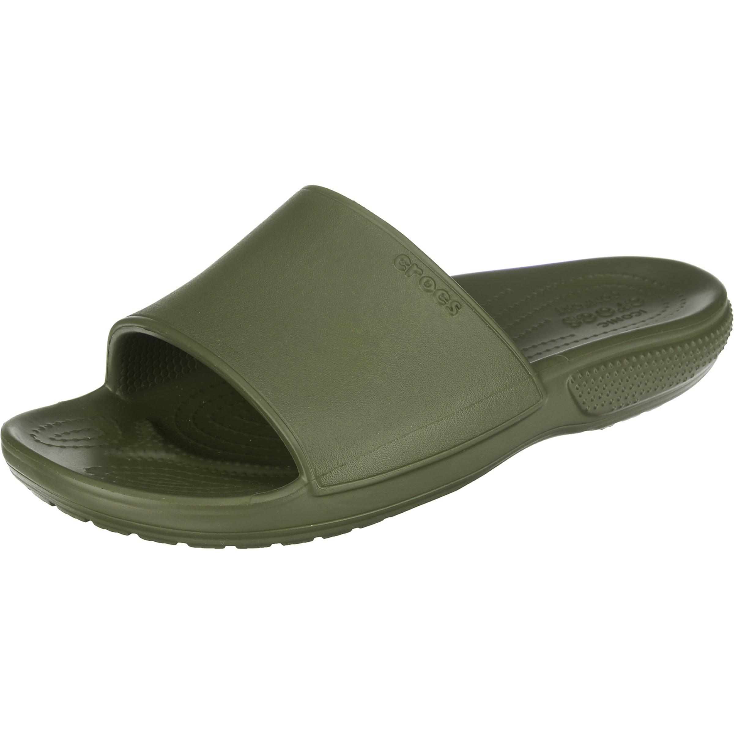 Herren Crocs Pantolette 'Classic II Slide' grün | 00191448333499
