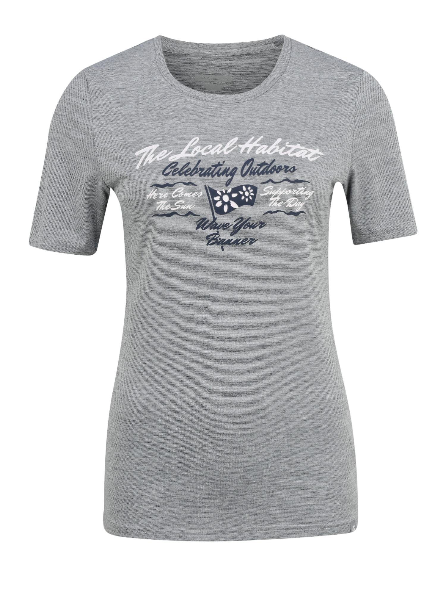 KILLTEC Sportiniai marškinėliai 'Pimetia' margai pilka