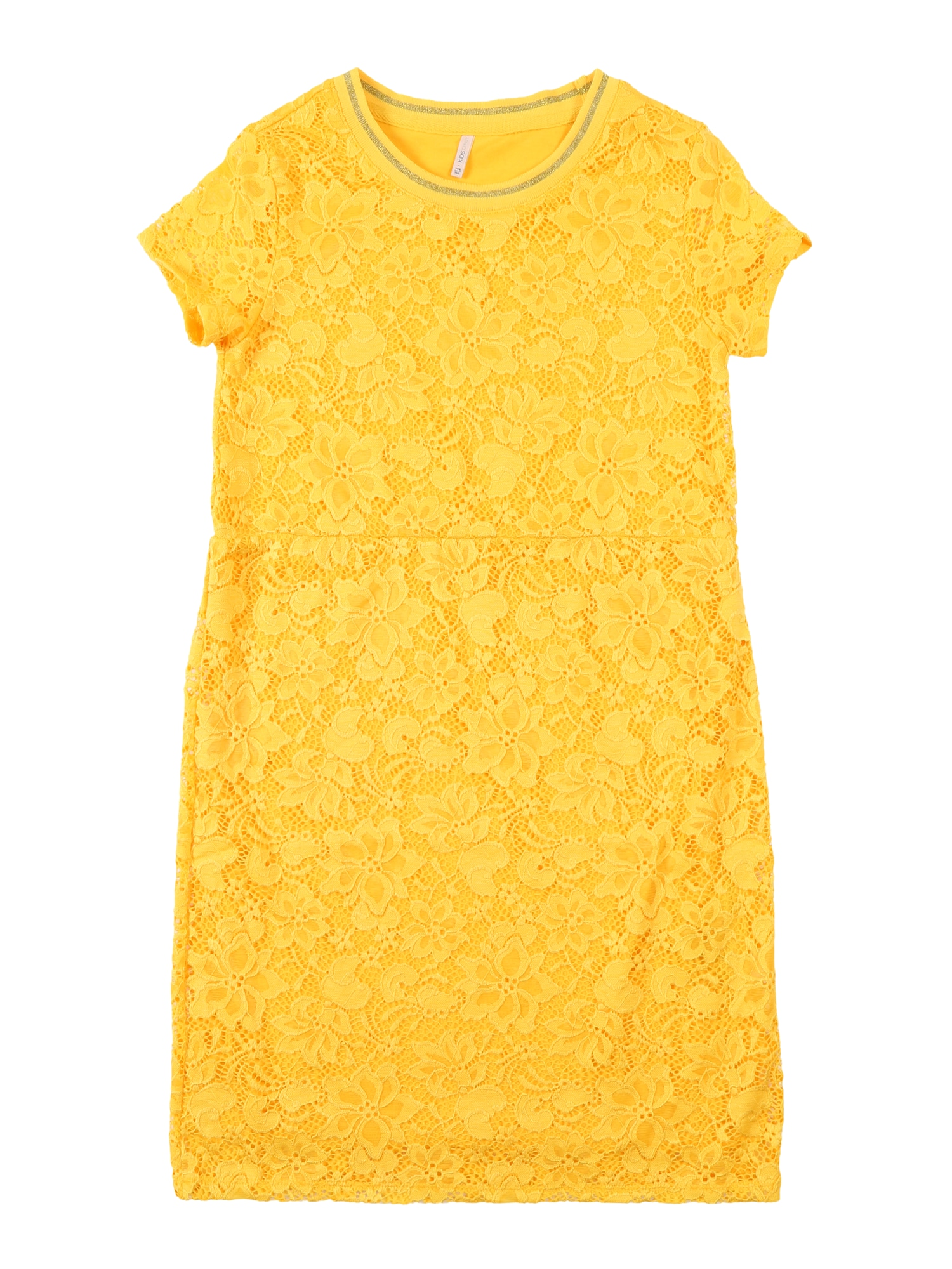Šaty konAMAZE SS O-NECK DRESS JRS žlutá KIDS ONLY