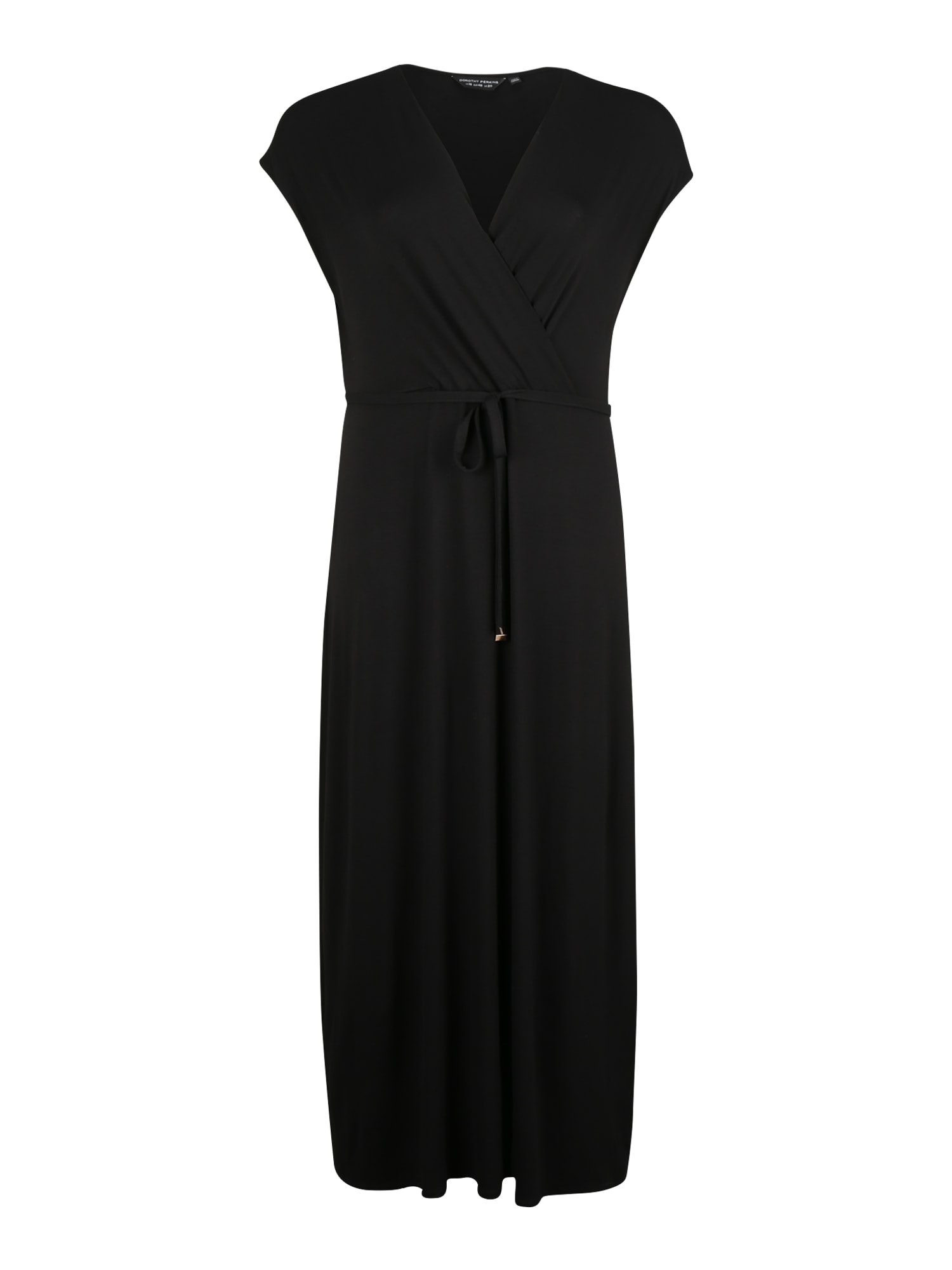 Dorothy Perkins Curve Suknelė 'BLACK WRAP MAXI' juoda
