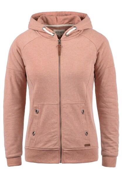 Jacken für Frauen - Desires Sweatjacke 'Mandy' altrosa  - Onlineshop ABOUT YOU