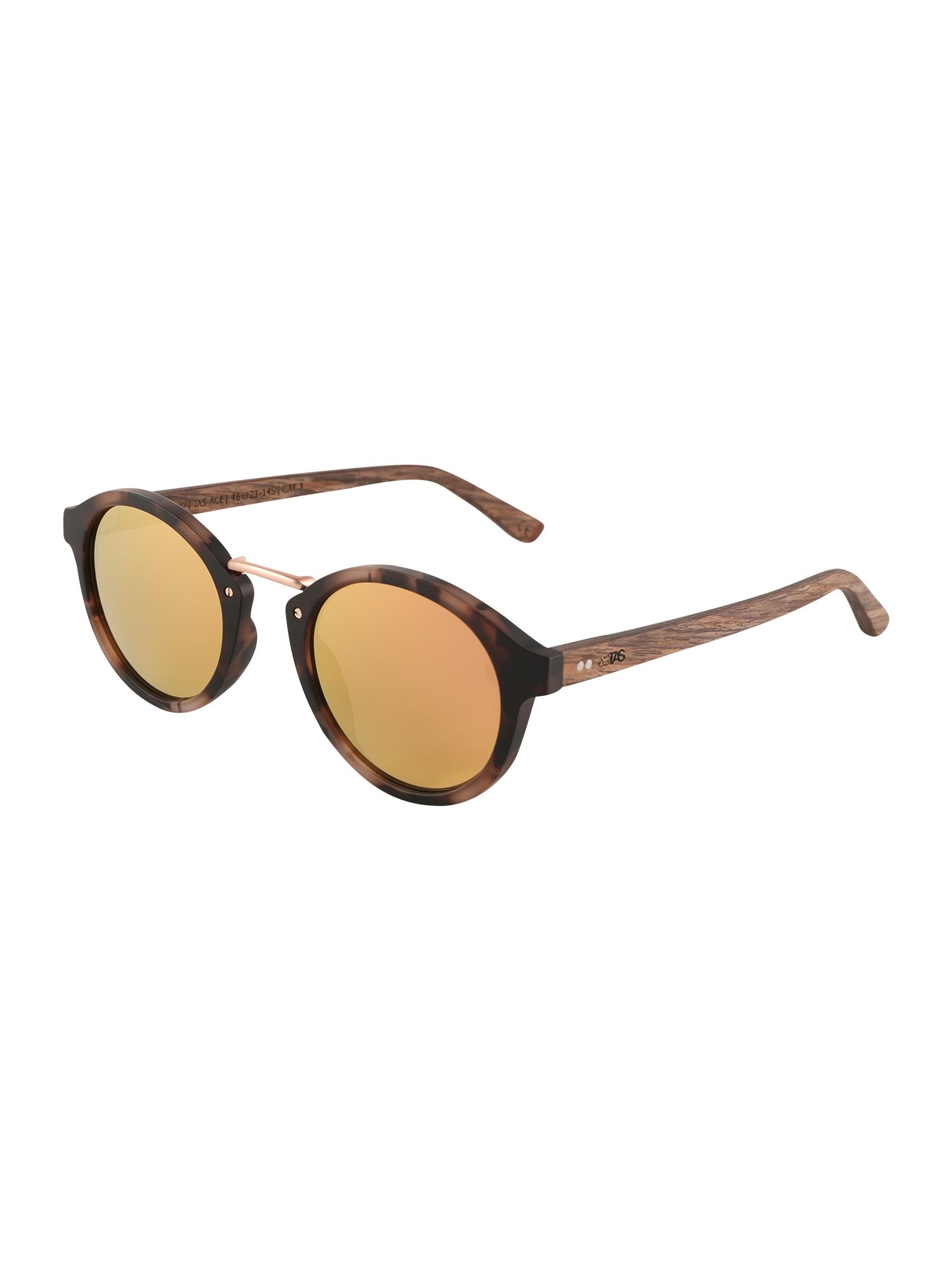 Sluneční brýle The Metall-Steg Collection krémová hnědá TAKE A SHOT