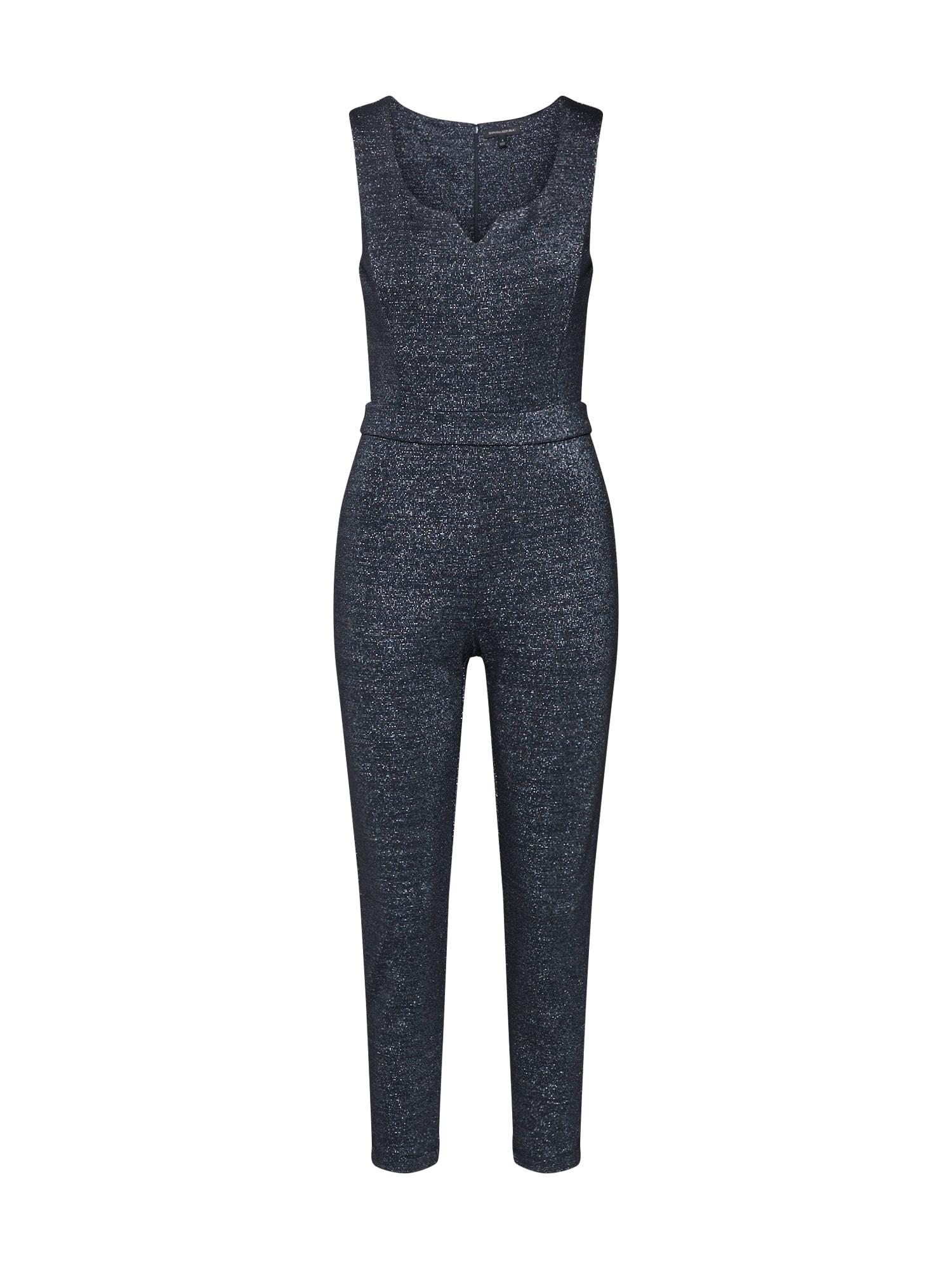 Banana Republic Kombinezono tipo kostiumas 'OFF SHOULDER METALLIC JUMPSUIT' juoda