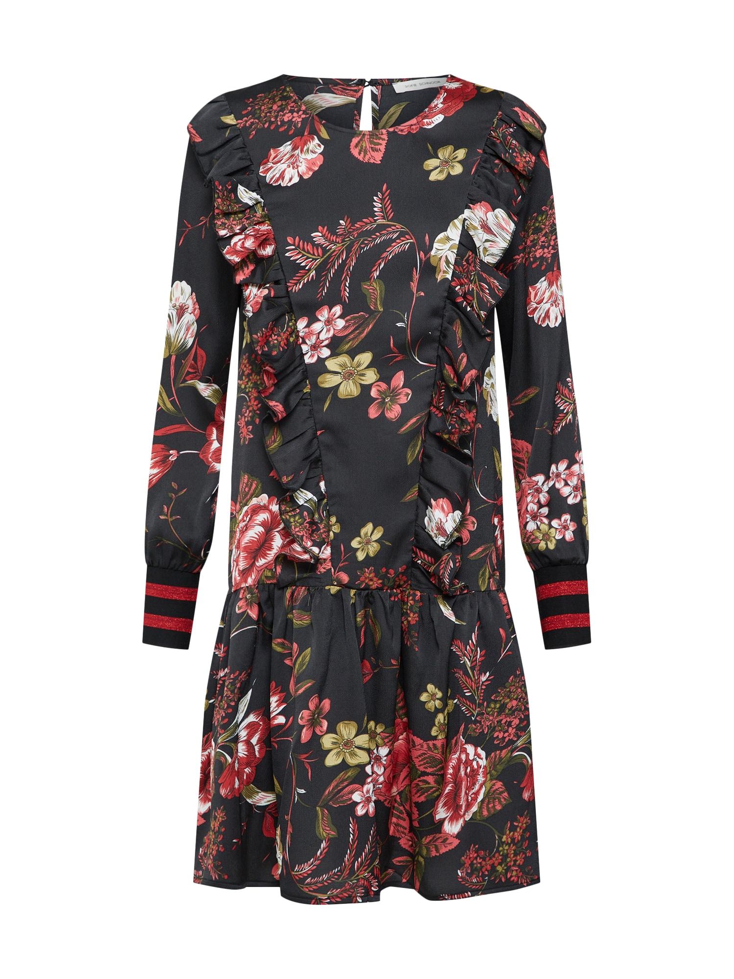 Šaty mix barev černá Sofie Schnoor