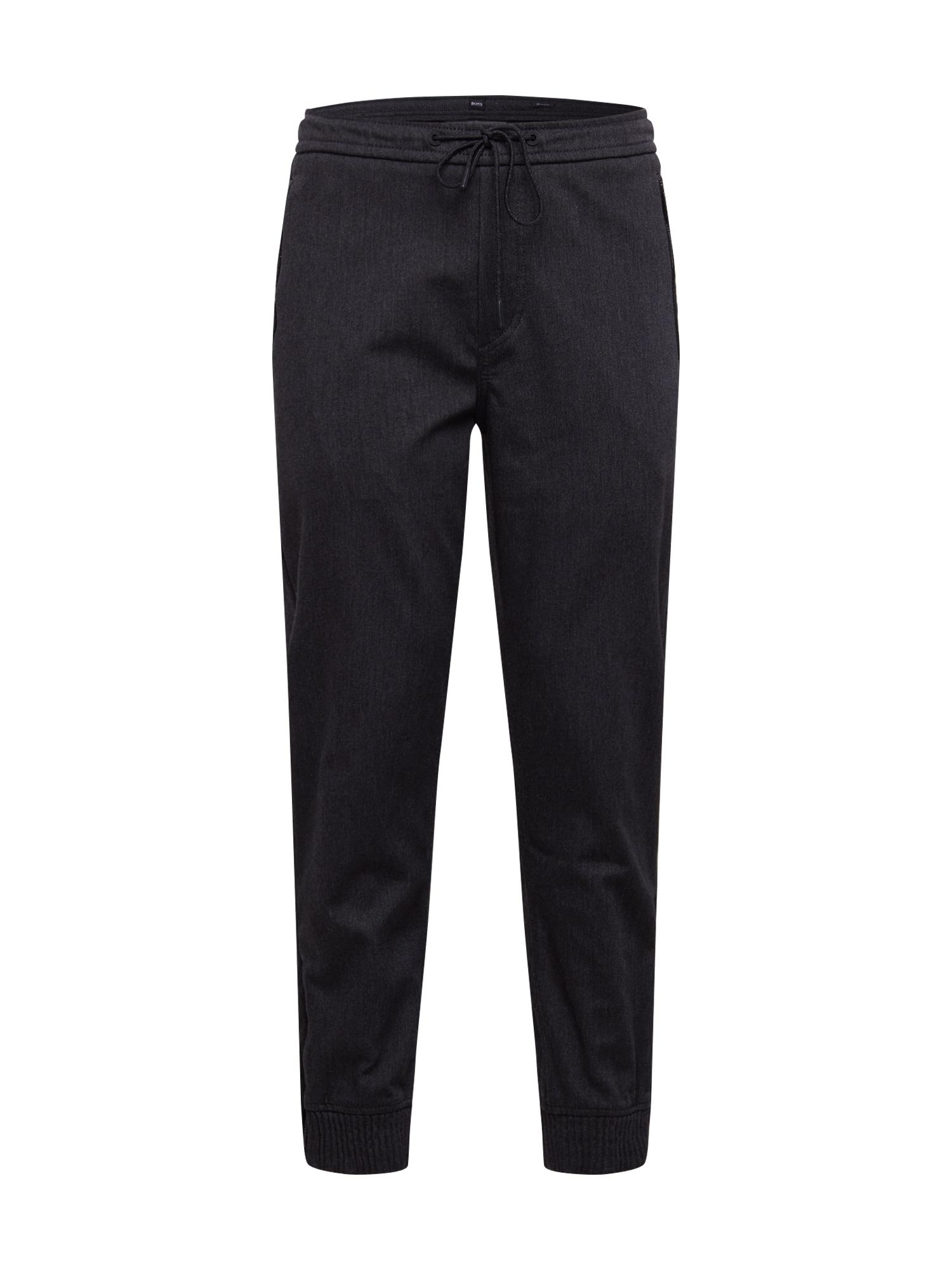 BOSS Kelnės 'Sepper' juodo džinso spalva
