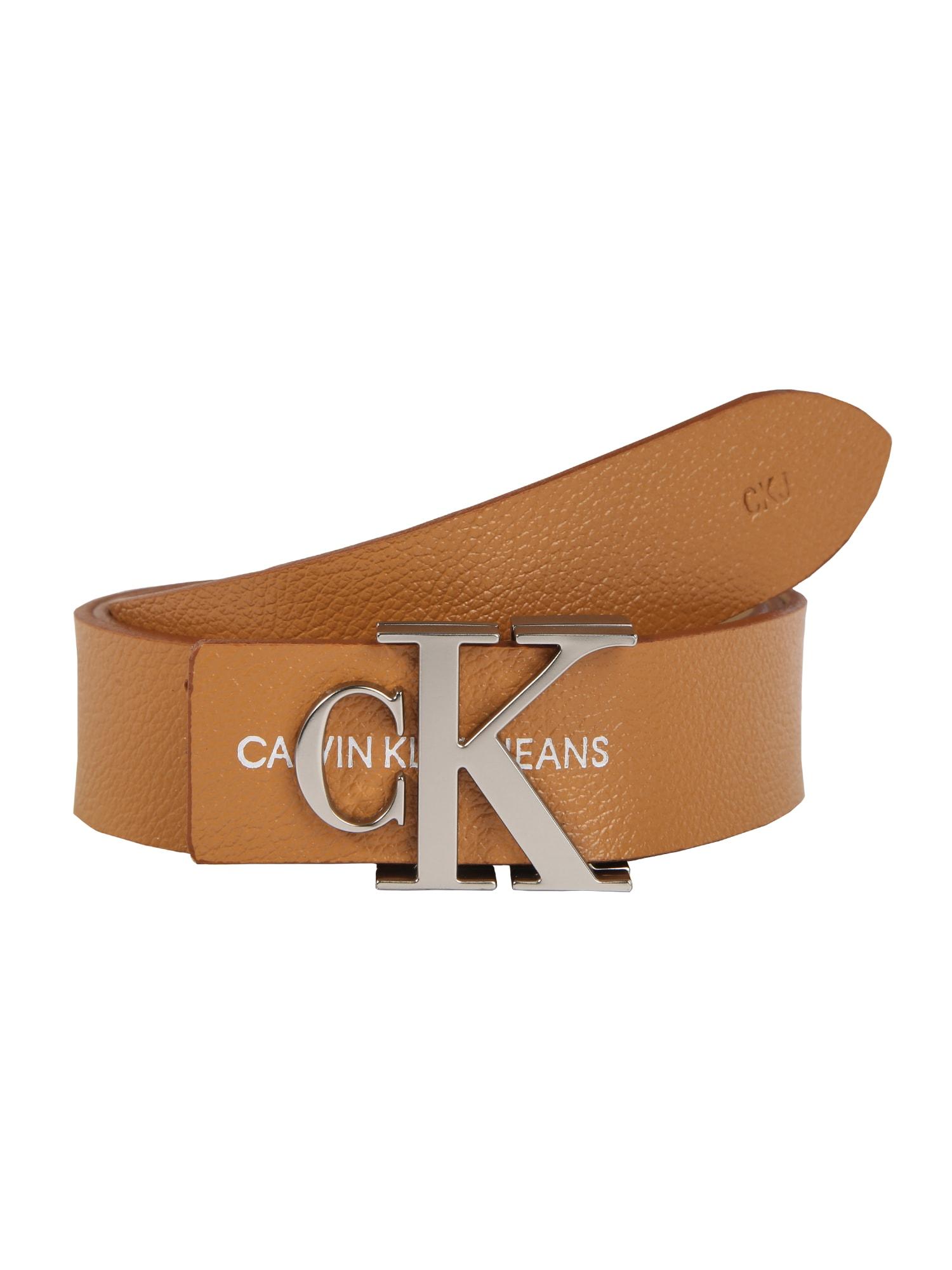 Calvin Klein Jeans Diržas 'GYM CLASS MONO 30MM' sidabras / ruda