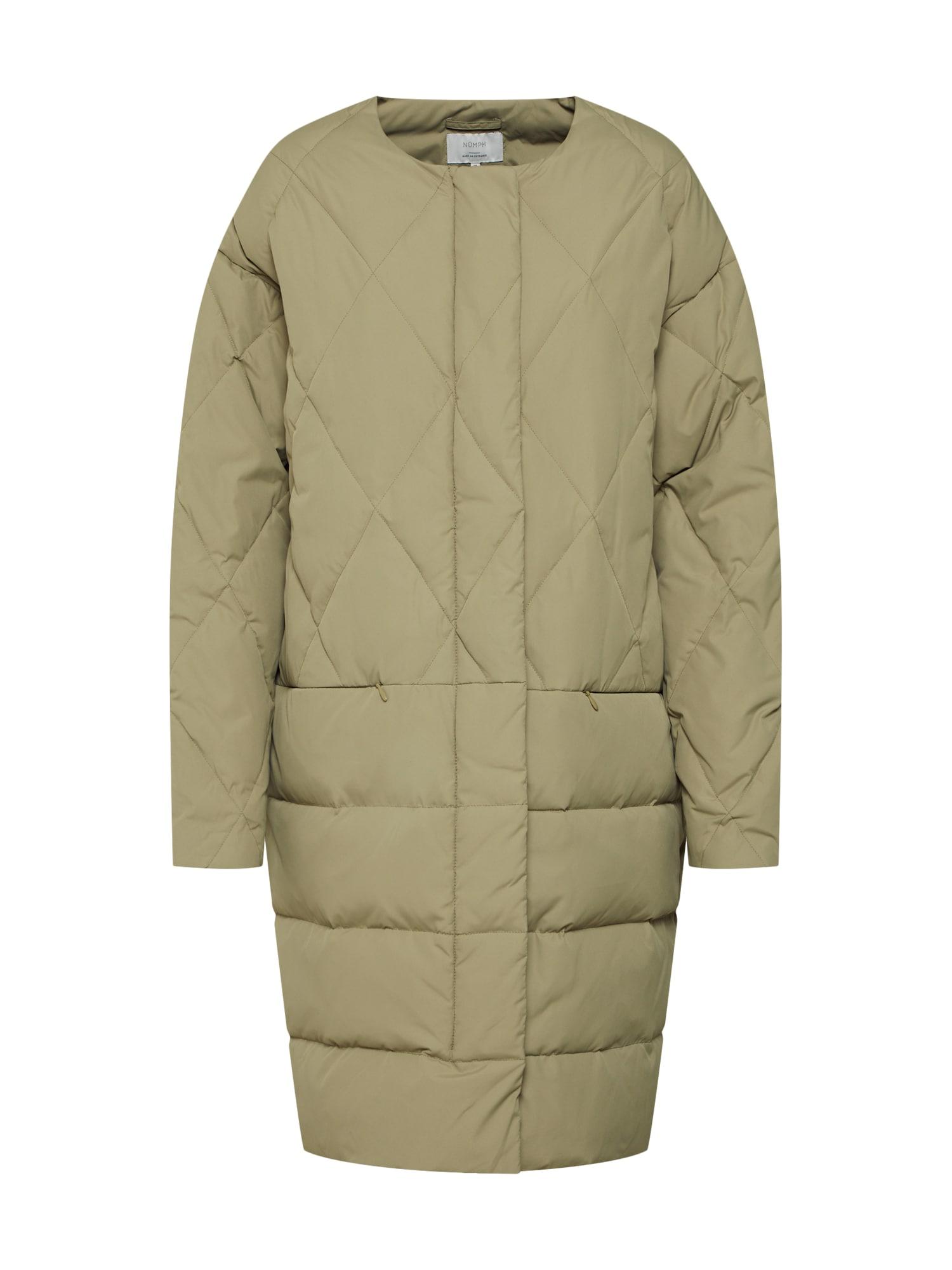 NÜMPH Žieminis paltas 'Leandra' žalia