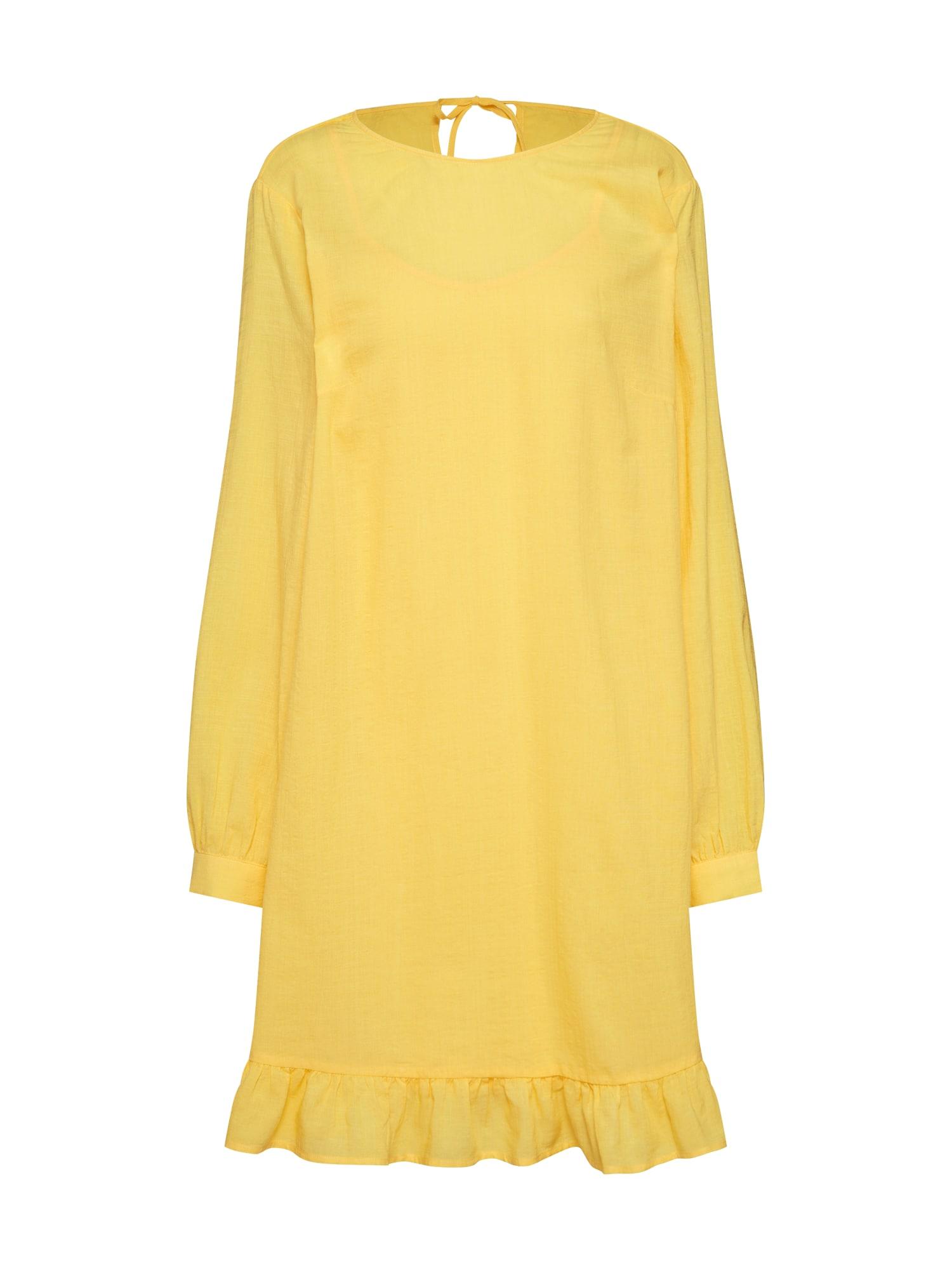 Letní šaty Sarah žlutá MOSS COPENHAGEN