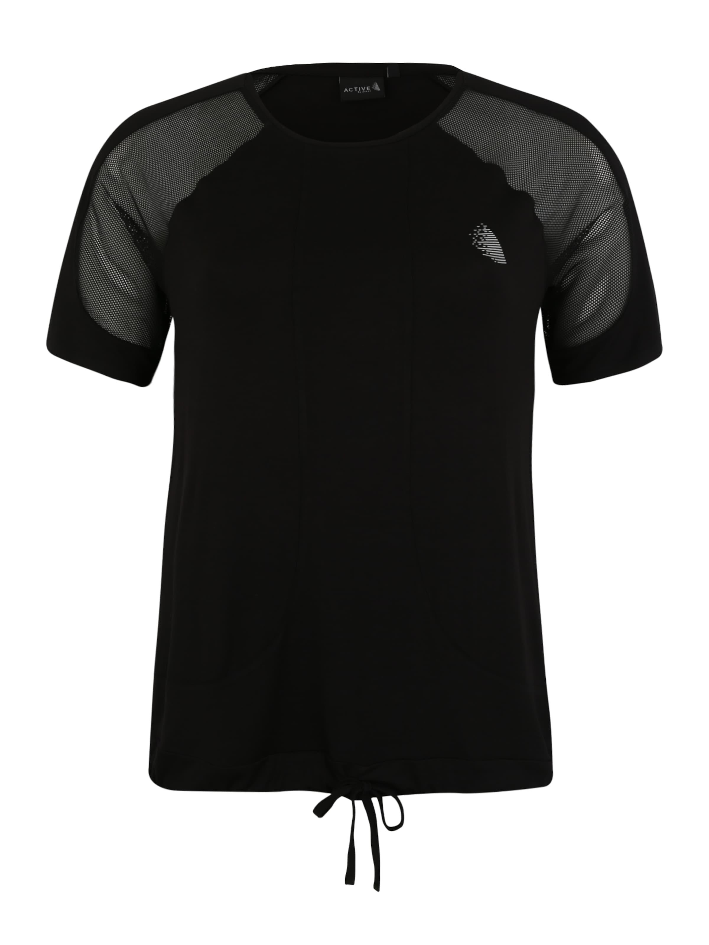 Damen Active By Zizzi Sport-Shirt  'ACADY' schwarz | 05711284977968