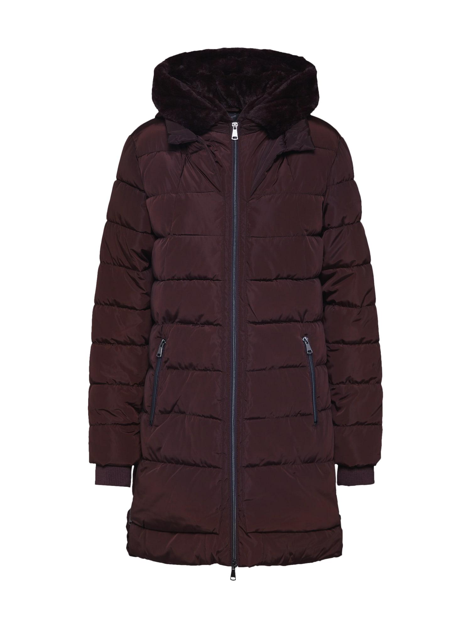Cartoon Žieminis paltas tamsiai ruda