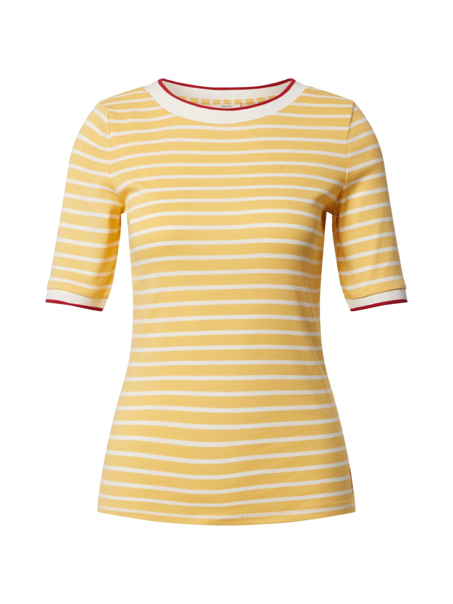 ESPRIT Marškinėliai balta / geltona