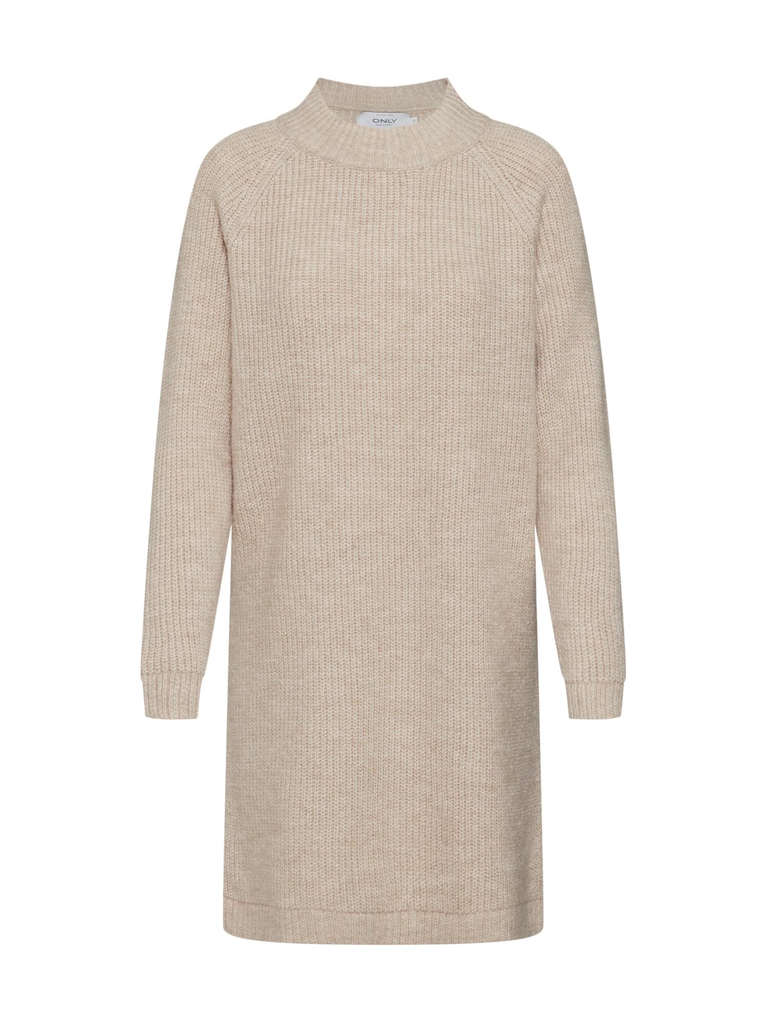 ONLY Úpletové šaty 'JADE'  béžová