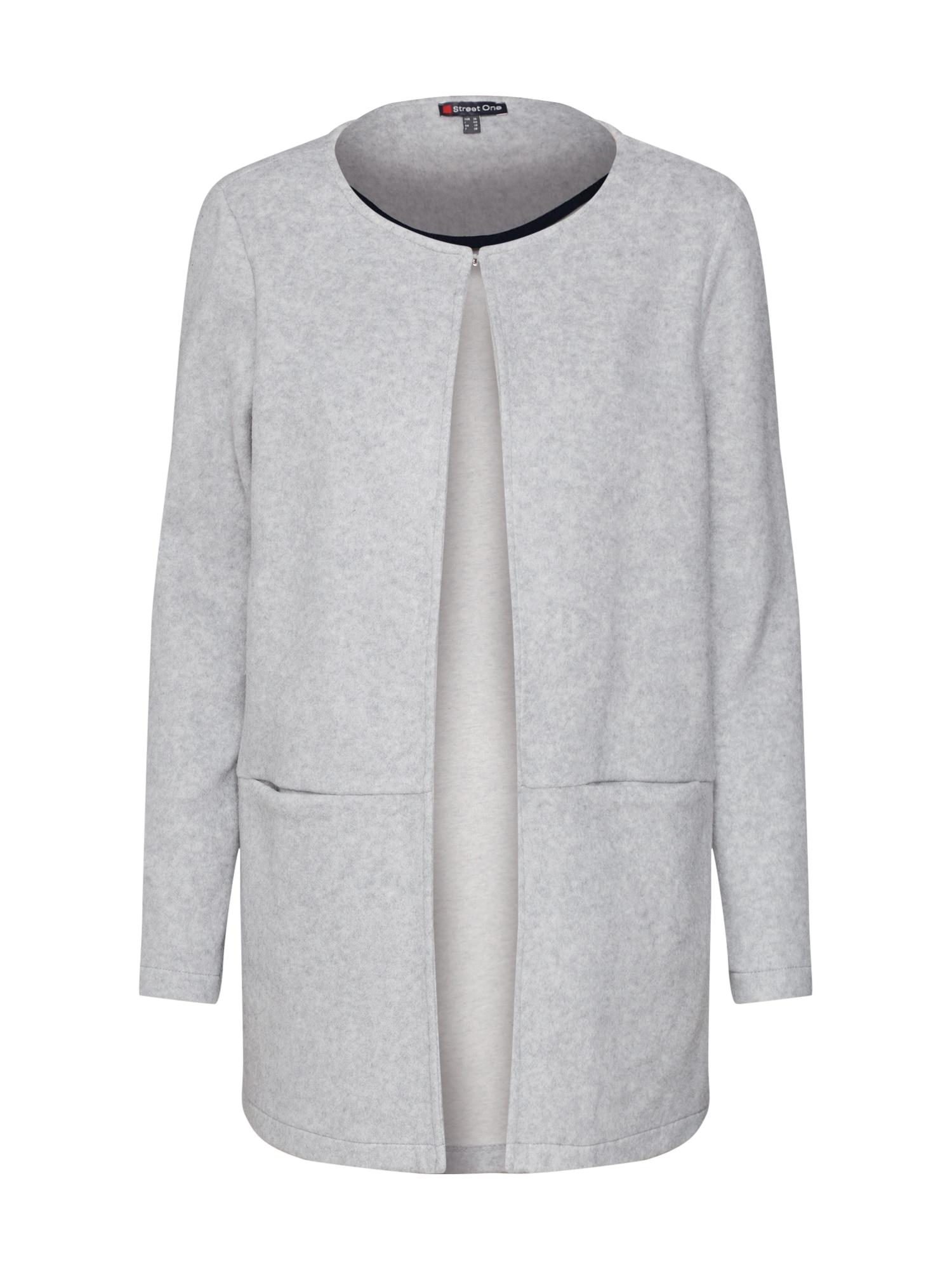 Pletený kabátek brushed longcoat šedý melír STREET ONE