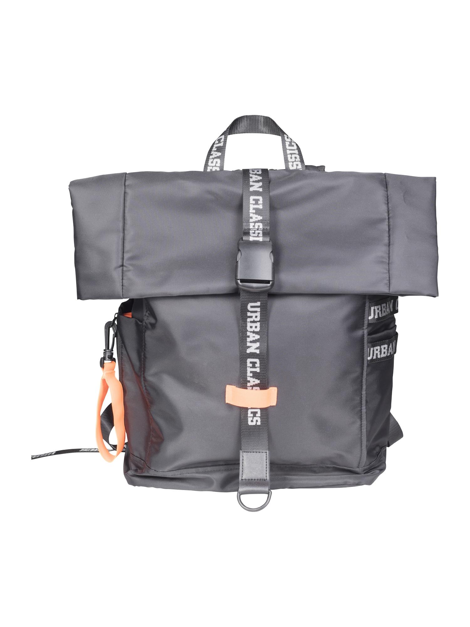 Urban Classics Rucsac 'Nylon Backpack'  portocaliu neon / negru