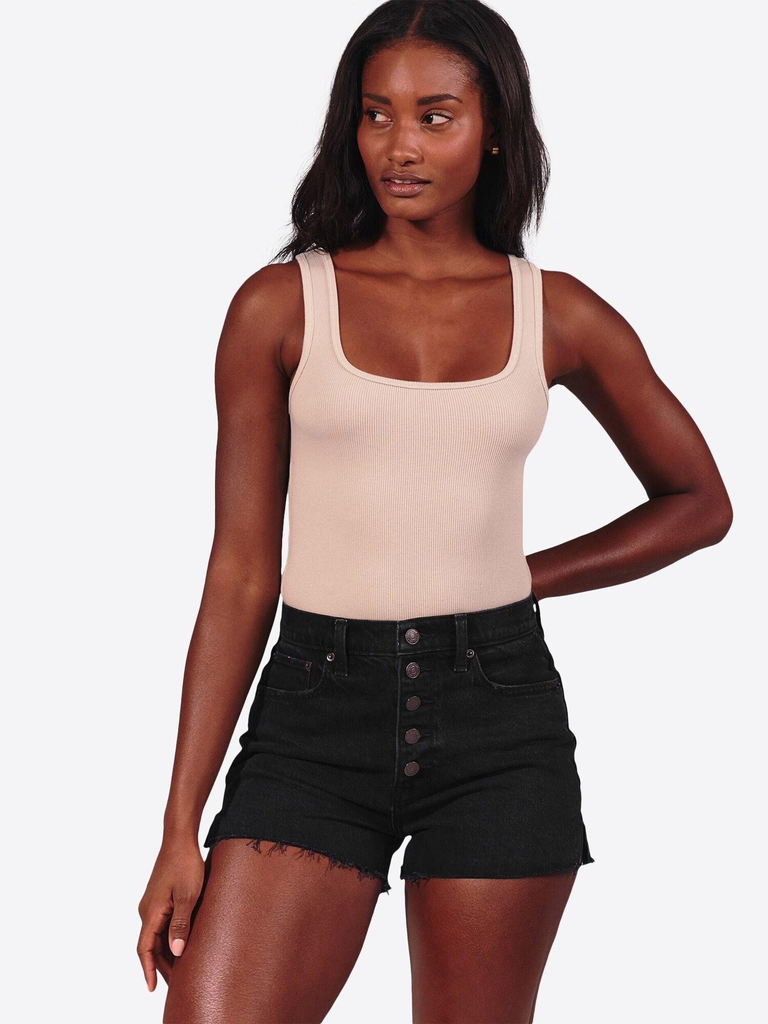 Abercrombie & Fitch Jeans 'CURVY HR MOM'  svart denim