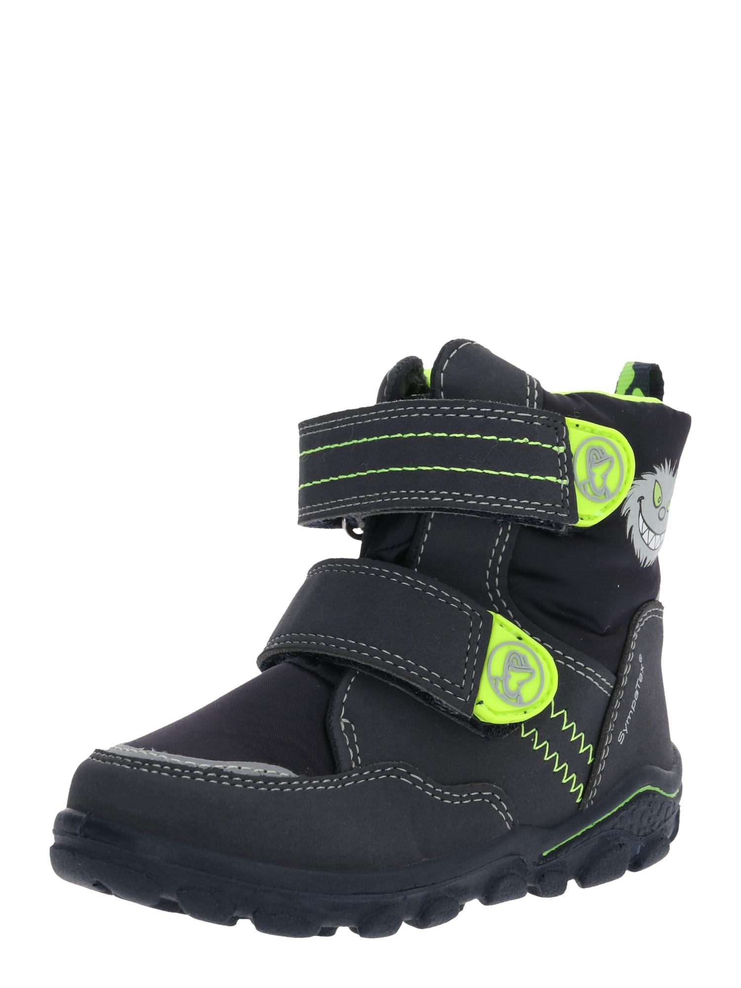 LURCHI Auliniai batai su kulniuku neoninė geltona / juoda