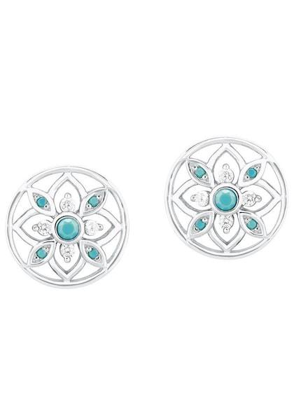 Ohrringe für Frauen - S.Oliver RED LABEL Ohrstecker '2024291' türkis silber  - Onlineshop ABOUT YOU