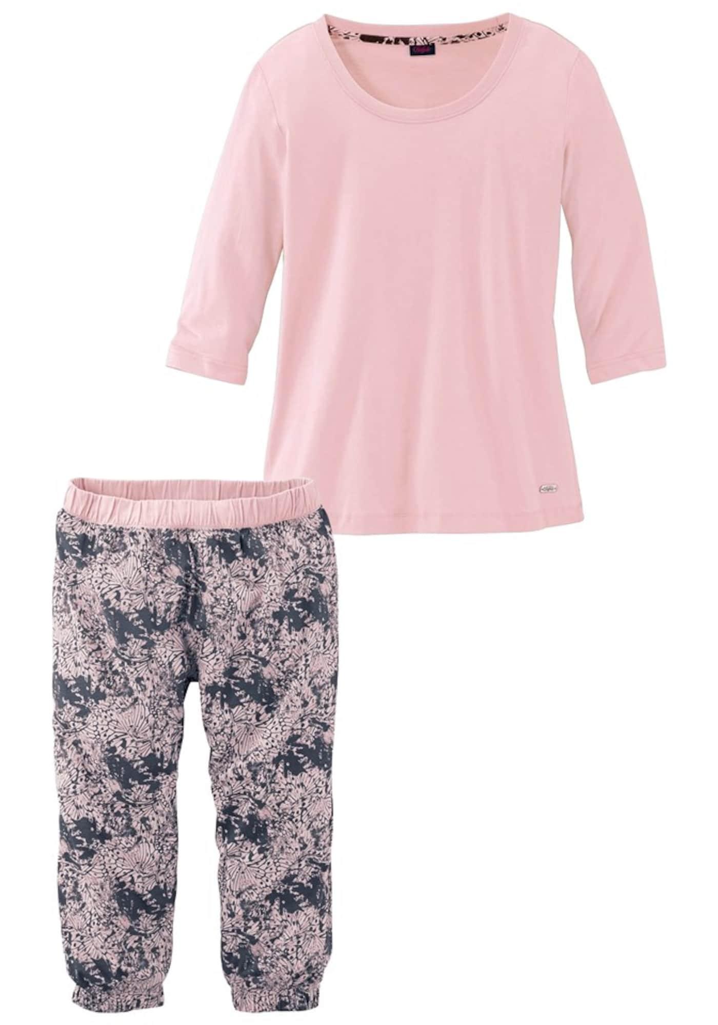 BUFFALO Pižama rožių spalva / bazalto pilka