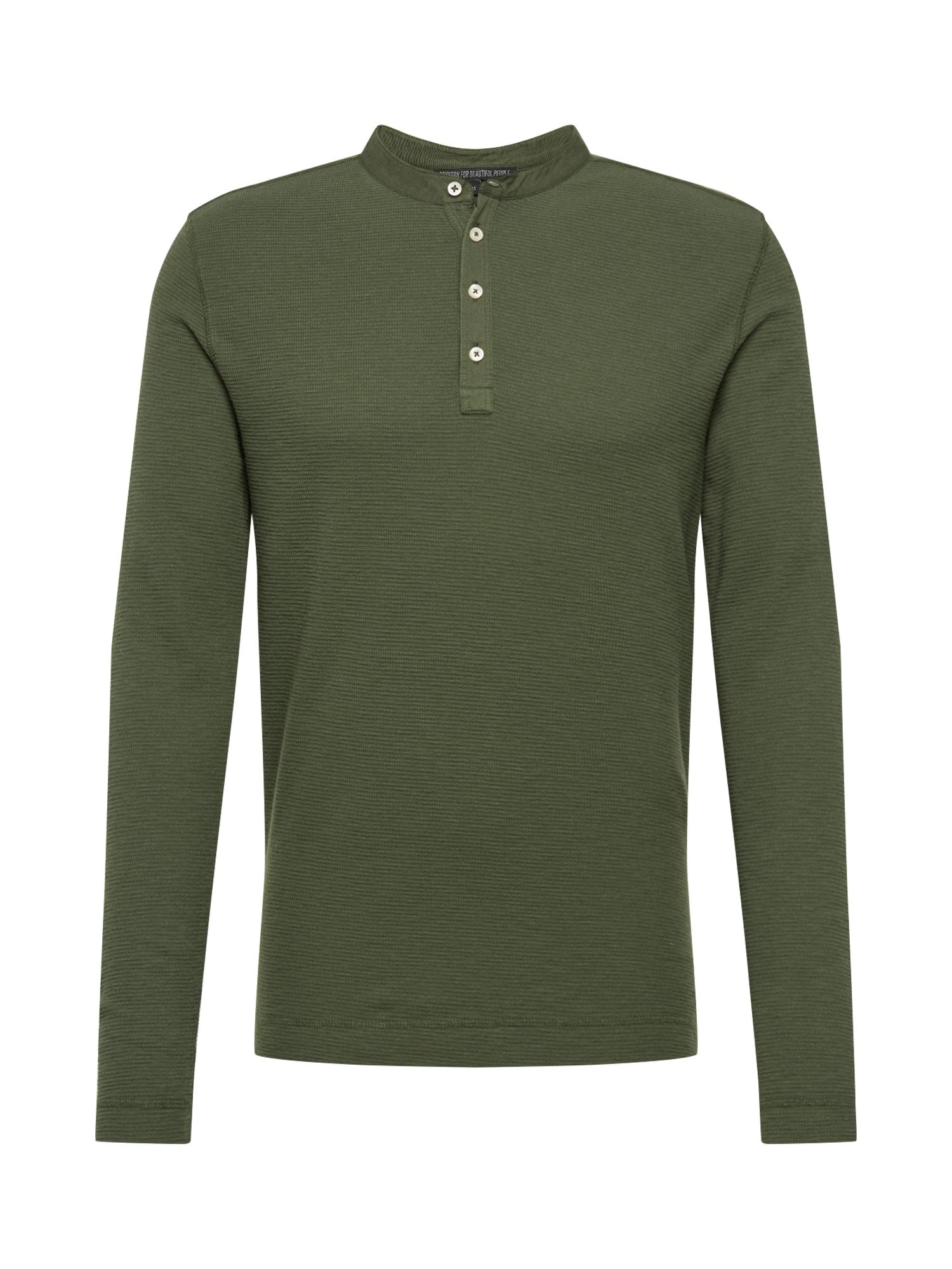DRYKORN Marškinėliai 'LENIUS' rusvai žalia
