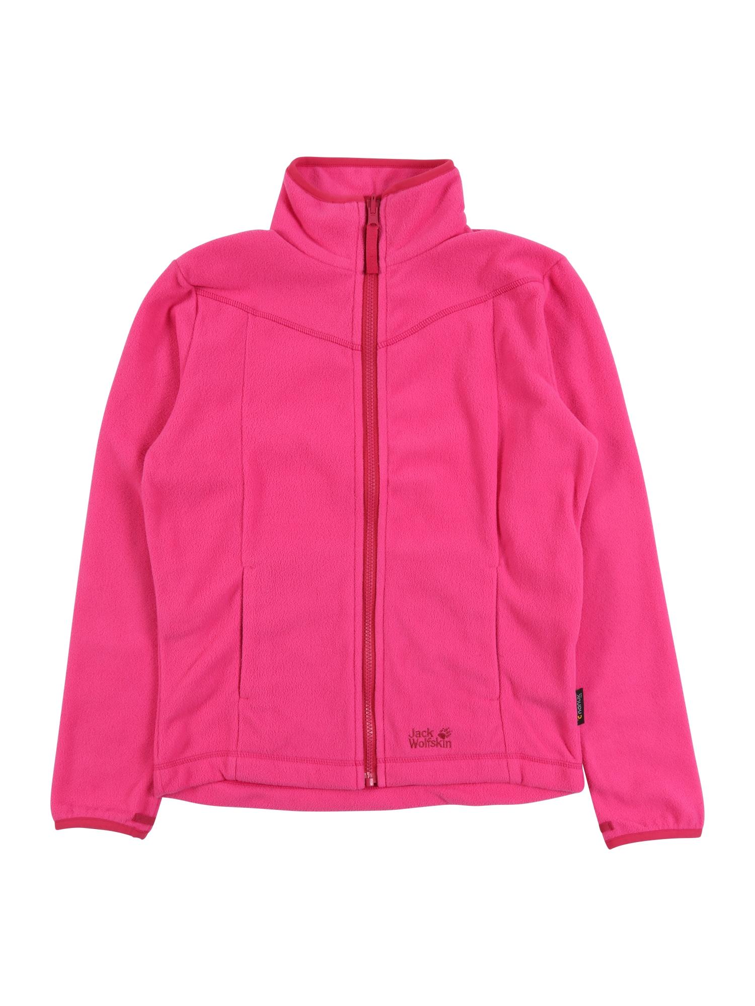 JACK WOLFSKIN Flisinis džemperis 'Sandpiper' tamsiai rožinė