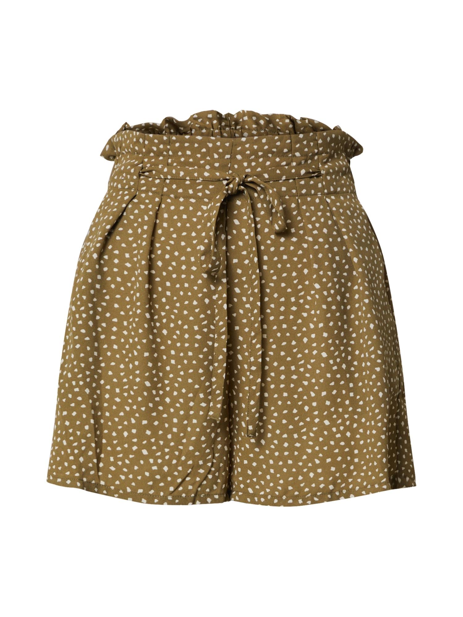 ONLY Plisované nohavice 'ONLSONJA LIFE PAPERBAG SHORTS'  zmiešané farby / olivová