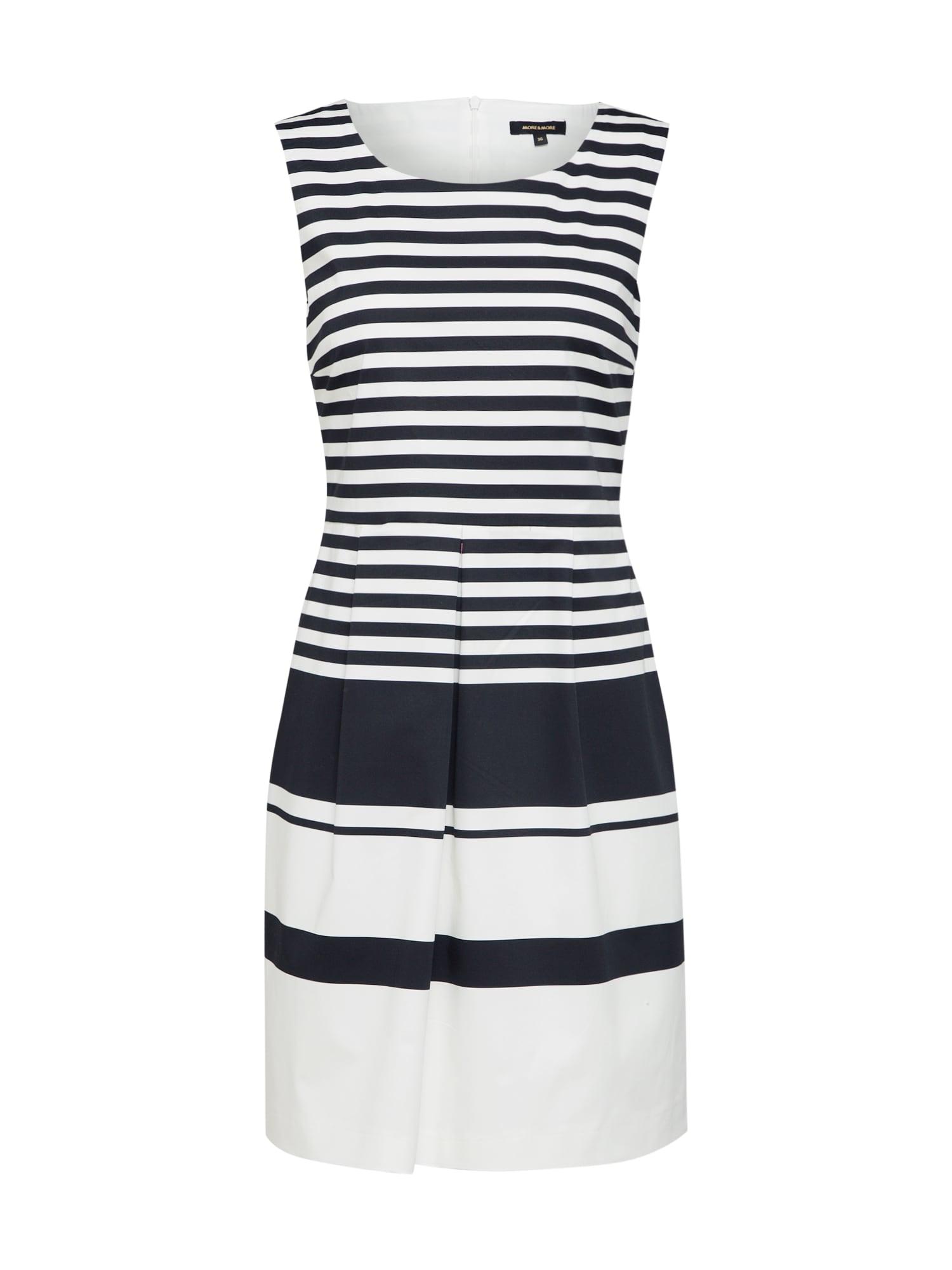 Šaty kobaltová modř bílá MORE & MORE