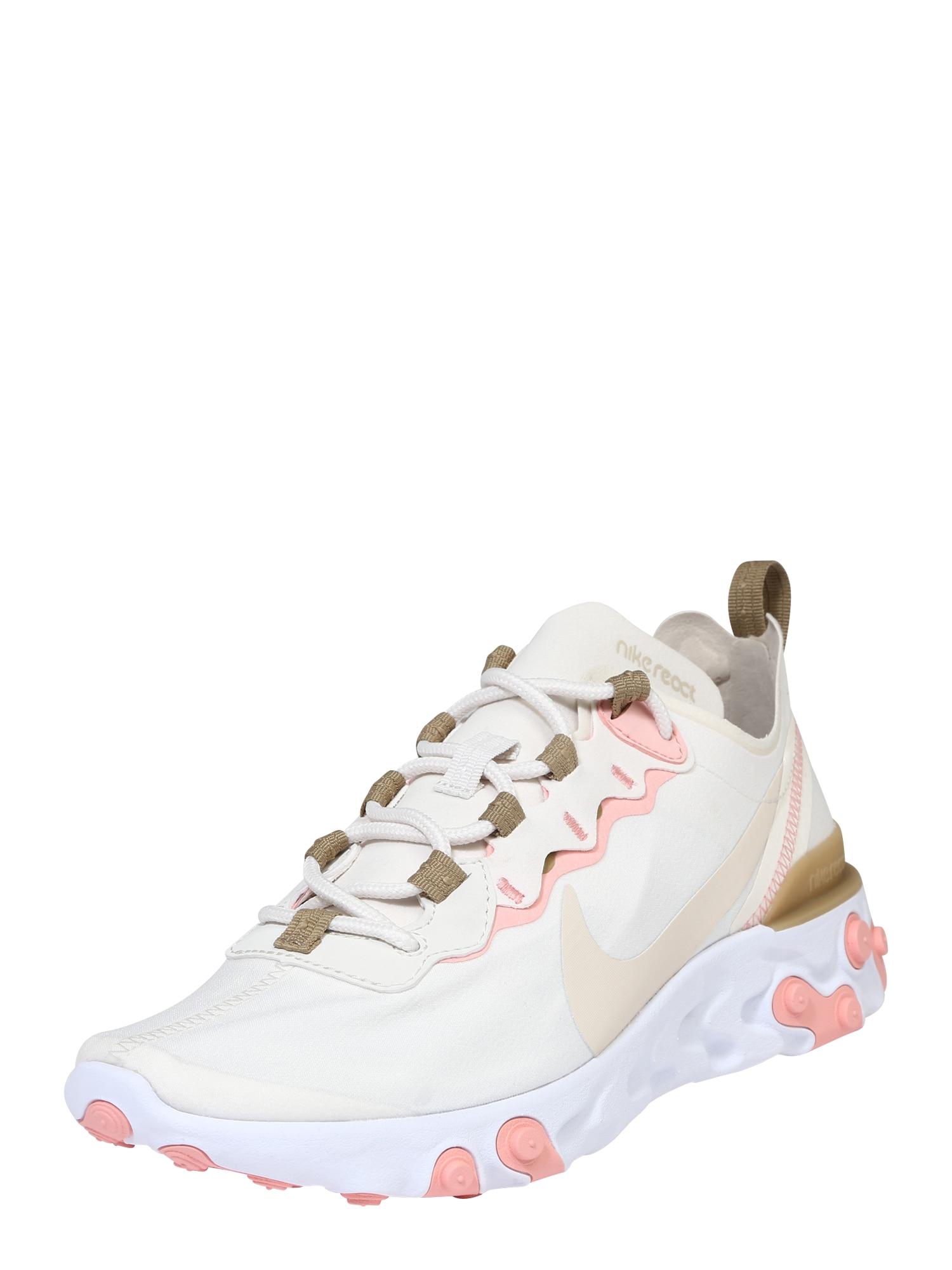 Nike Sportswear Sportbačiai be auliuko 'React 55' balta / smėlio / rožių spalva