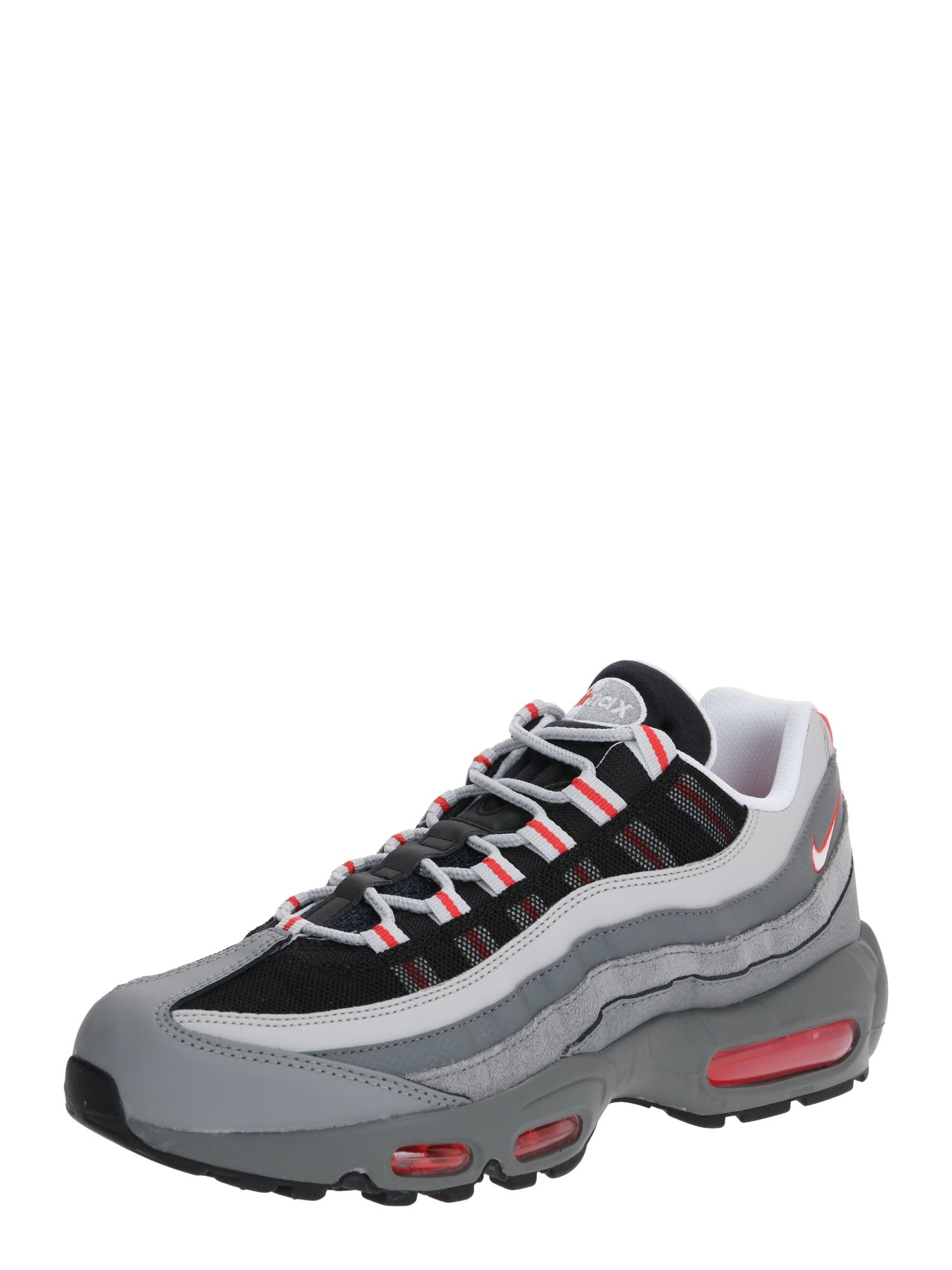 Nike Sportswear Nízke tenisky 'Air Max 95 Essential'  čierna / červené / sivá