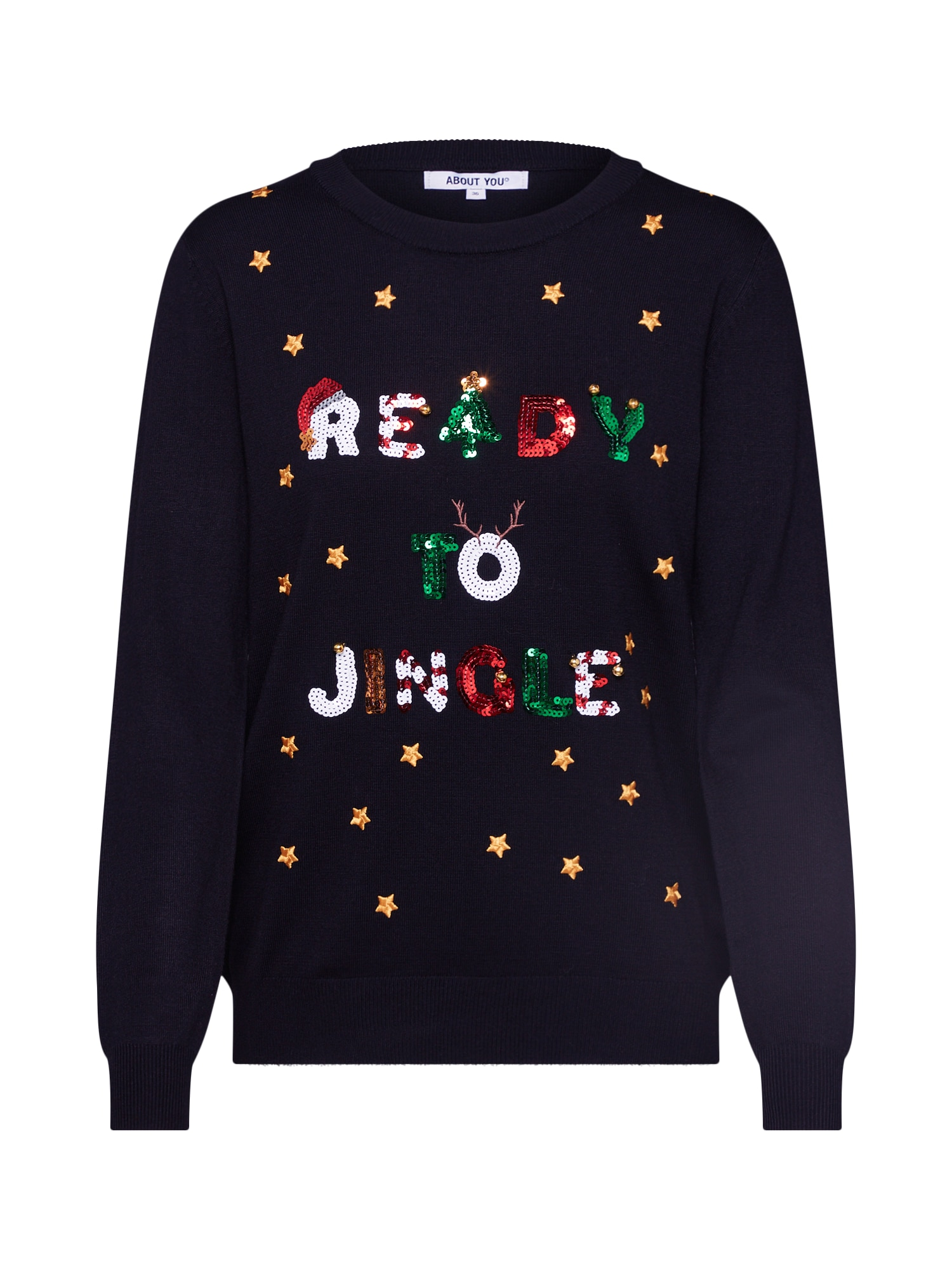 ABOUT YOU Megztinis 'Florentina Christmas Jumper' juoda