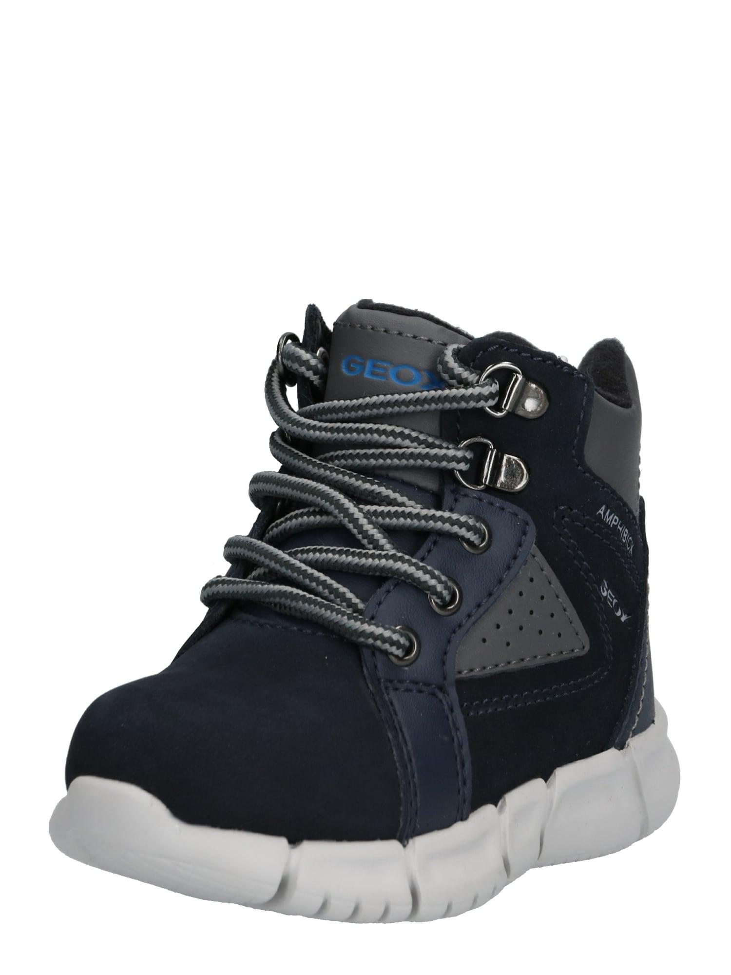 GEOX Auliniai batai su kulniuku tamsiai mėlyna / tamsiai pilka
