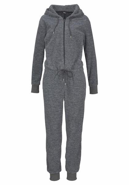 Hosen - Jumpsuit aus kuscheligem Fleece › Bench › graumeliert  - Onlineshop ABOUT YOU