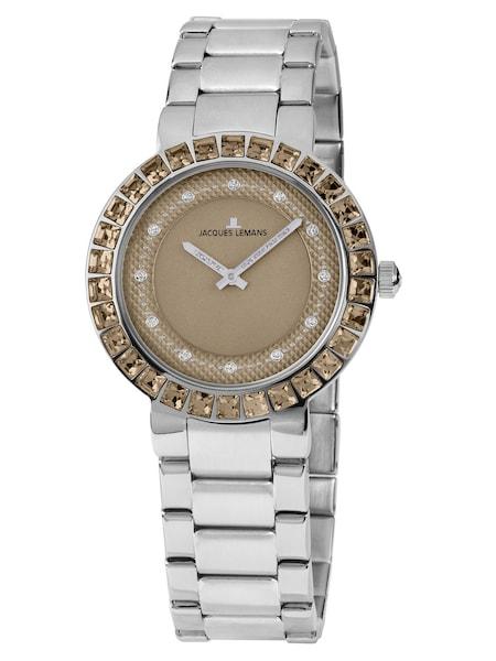 Uhren für Frauen - Jacques Lemans Damenuhr 'Milano' hellbraun silber  - Onlineshop ABOUT YOU