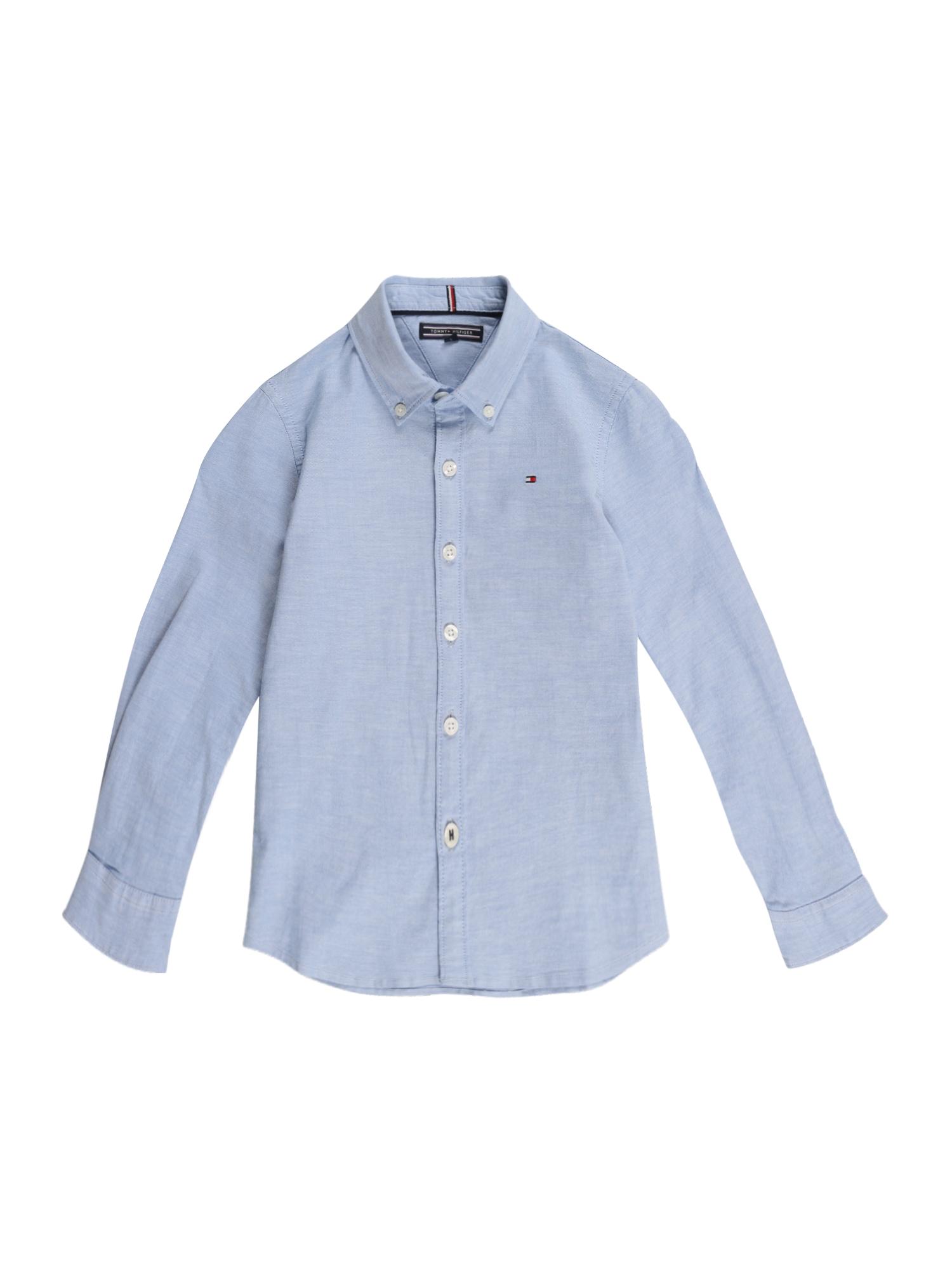 TOMMY HILFIGER Dalykiniai marškiniai šviesiai mėlyna