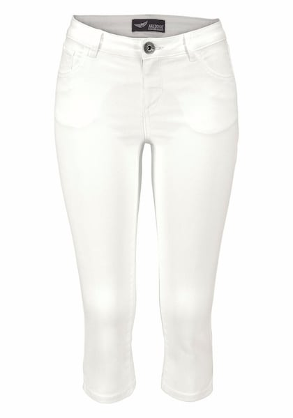Hosen für Frauen - ARIZONA Caprijeans 'Ultra Stretch' weiß  - Onlineshop ABOUT YOU