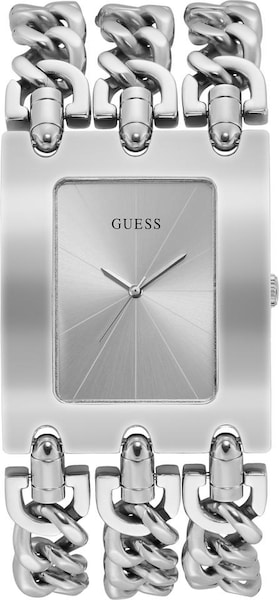 Uhren für Frauen - Quarzuhr 'Heavy Metal, W1274L1' › Guess › silber  - Onlineshop ABOUT YOU