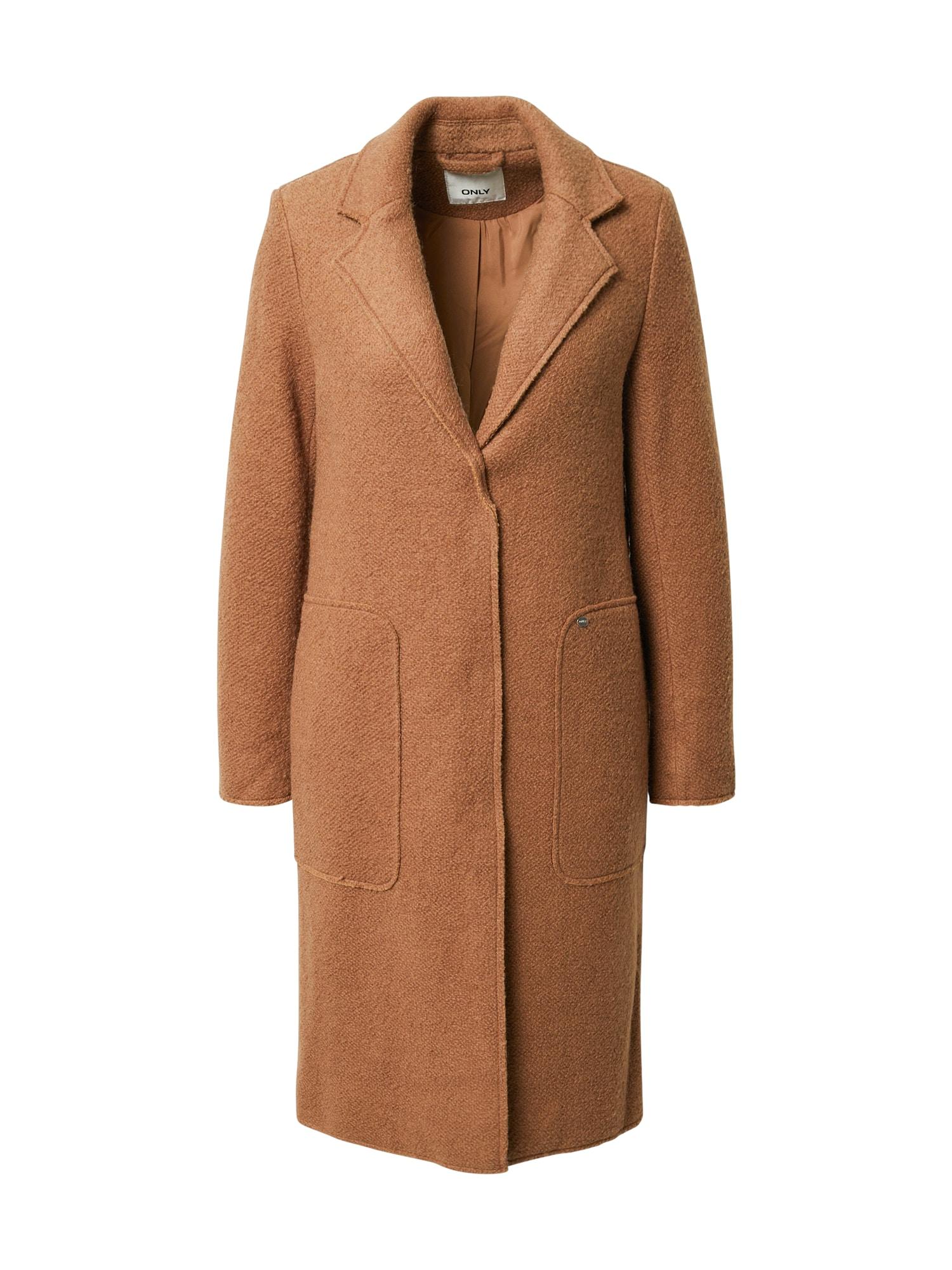 ONLY Přechodný kabát 'Stacy'  hnědá