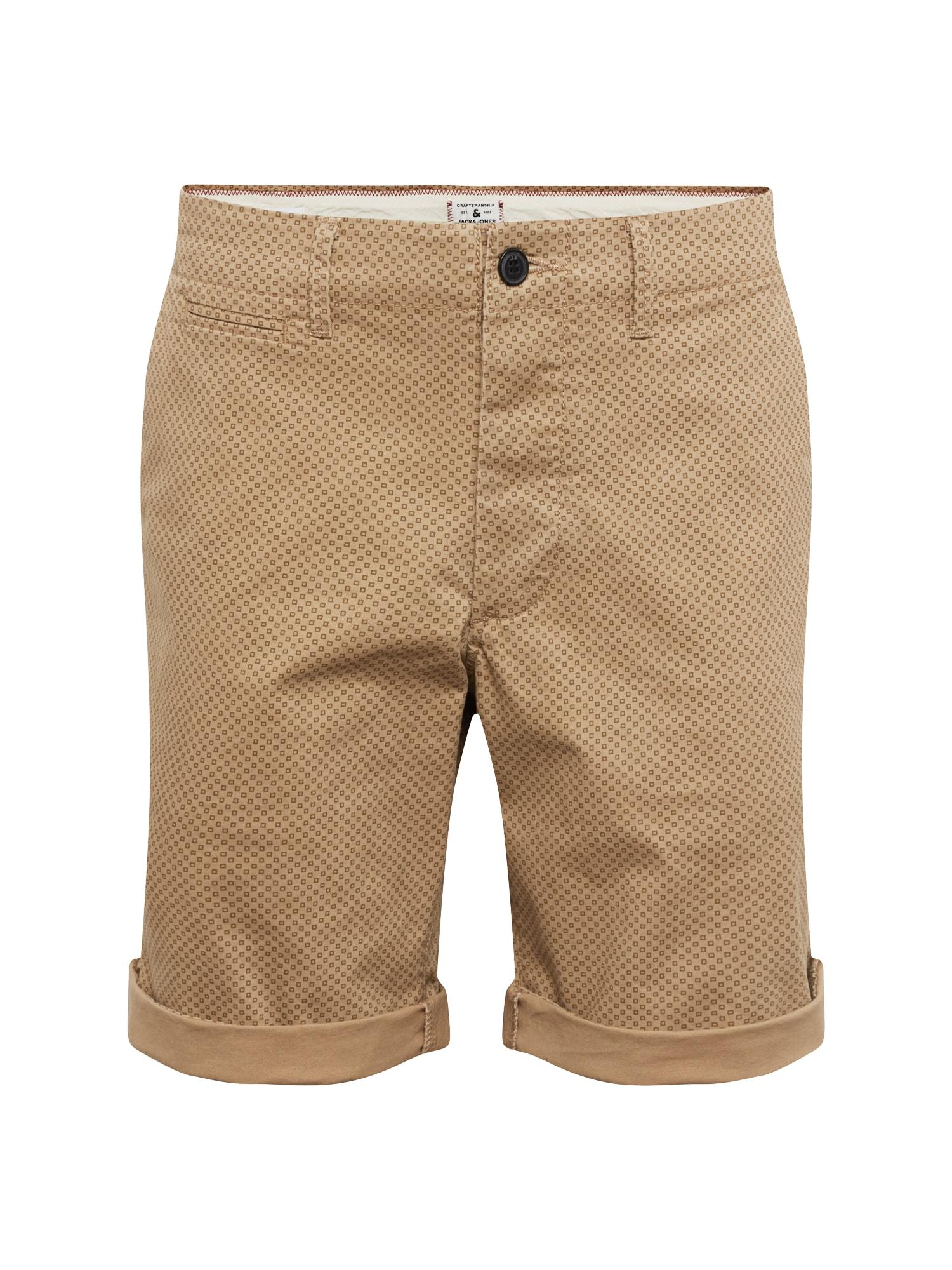 Chino kalhoty béžová JACK & JONES