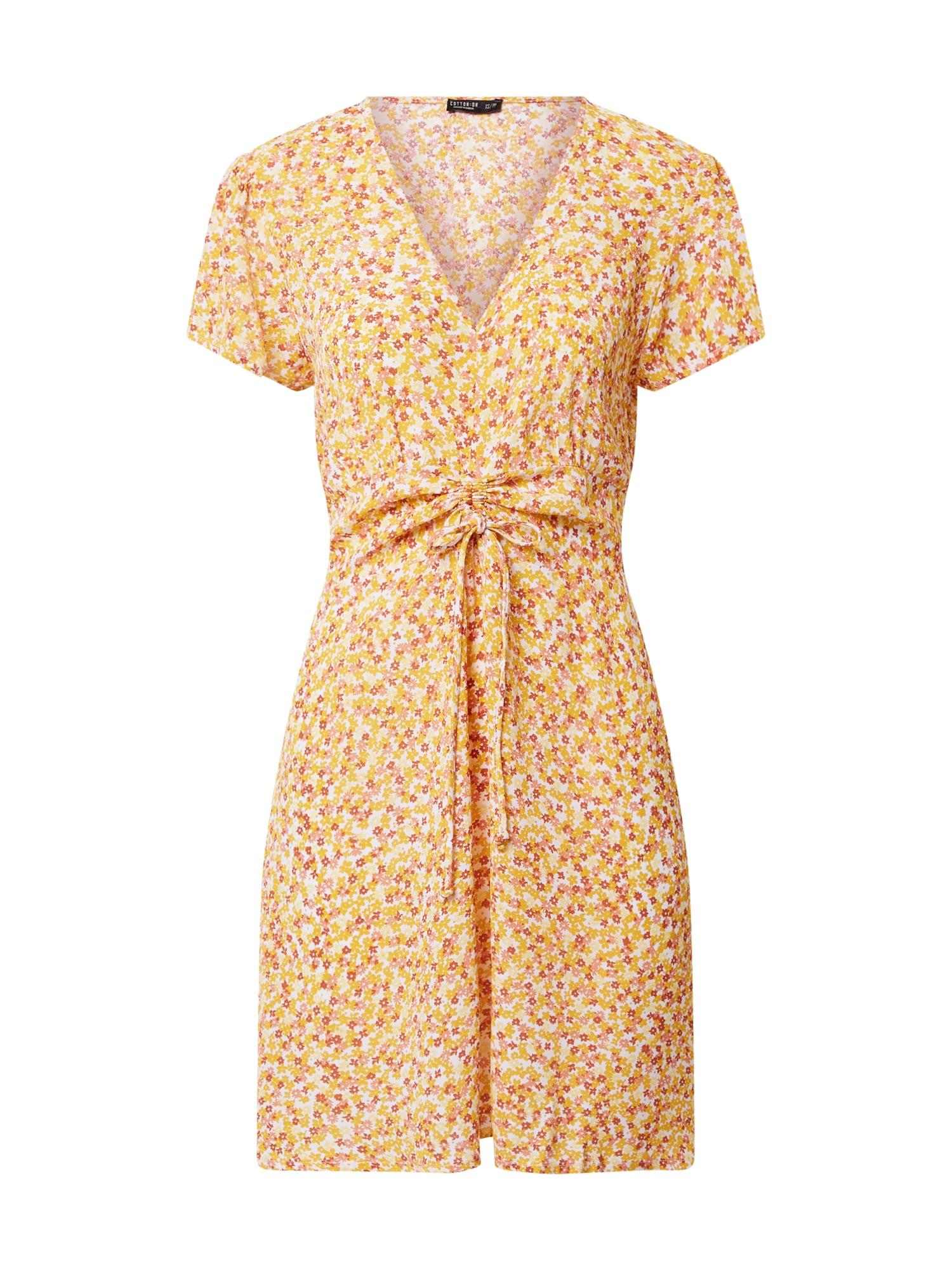 Cotton On Suknelė balta / geltona / raudona / rožinė